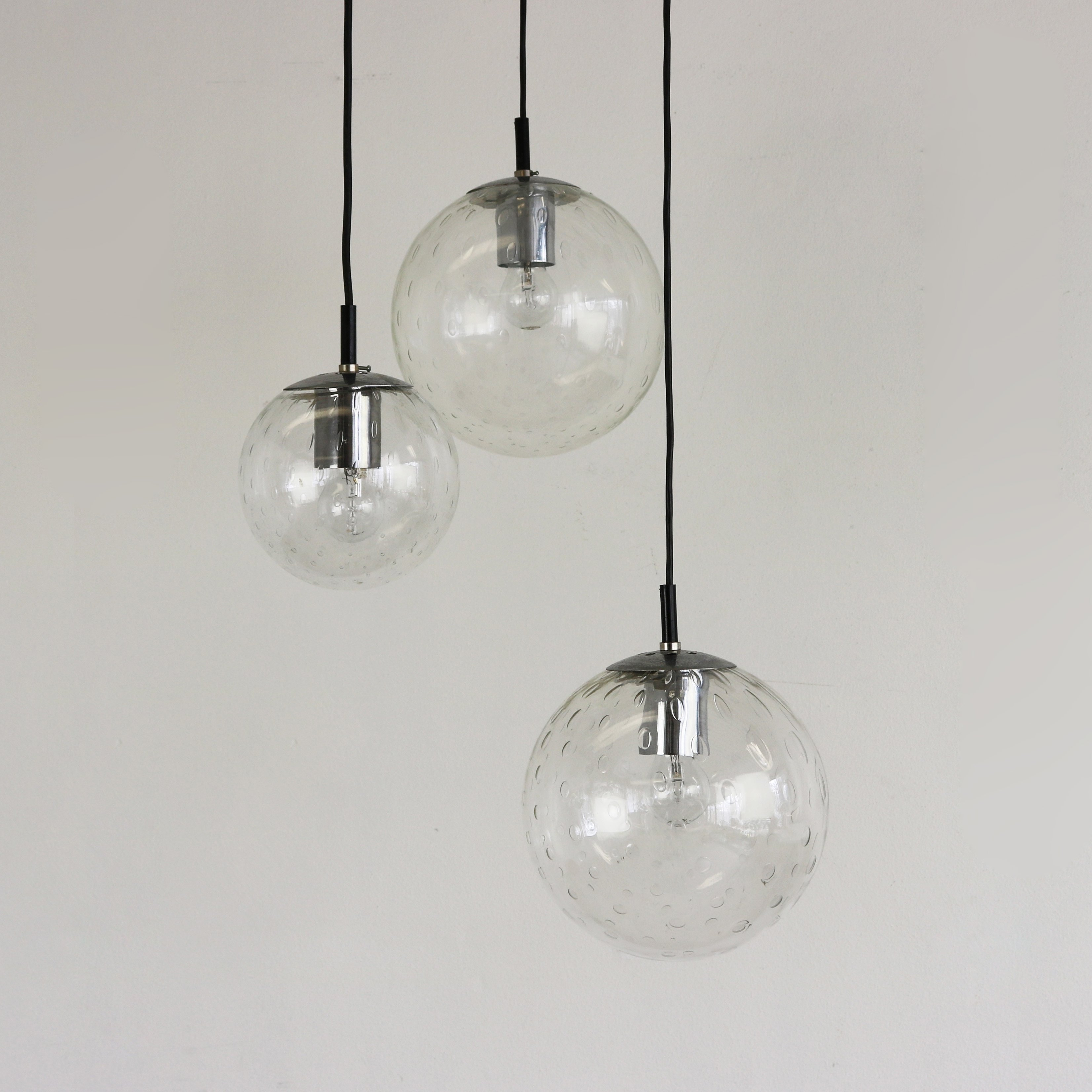 Glass globe pendants by raak amsterdam 1960s 62057 glass globe pendants by raak amsterdam 1960s aloadofball Gallery
