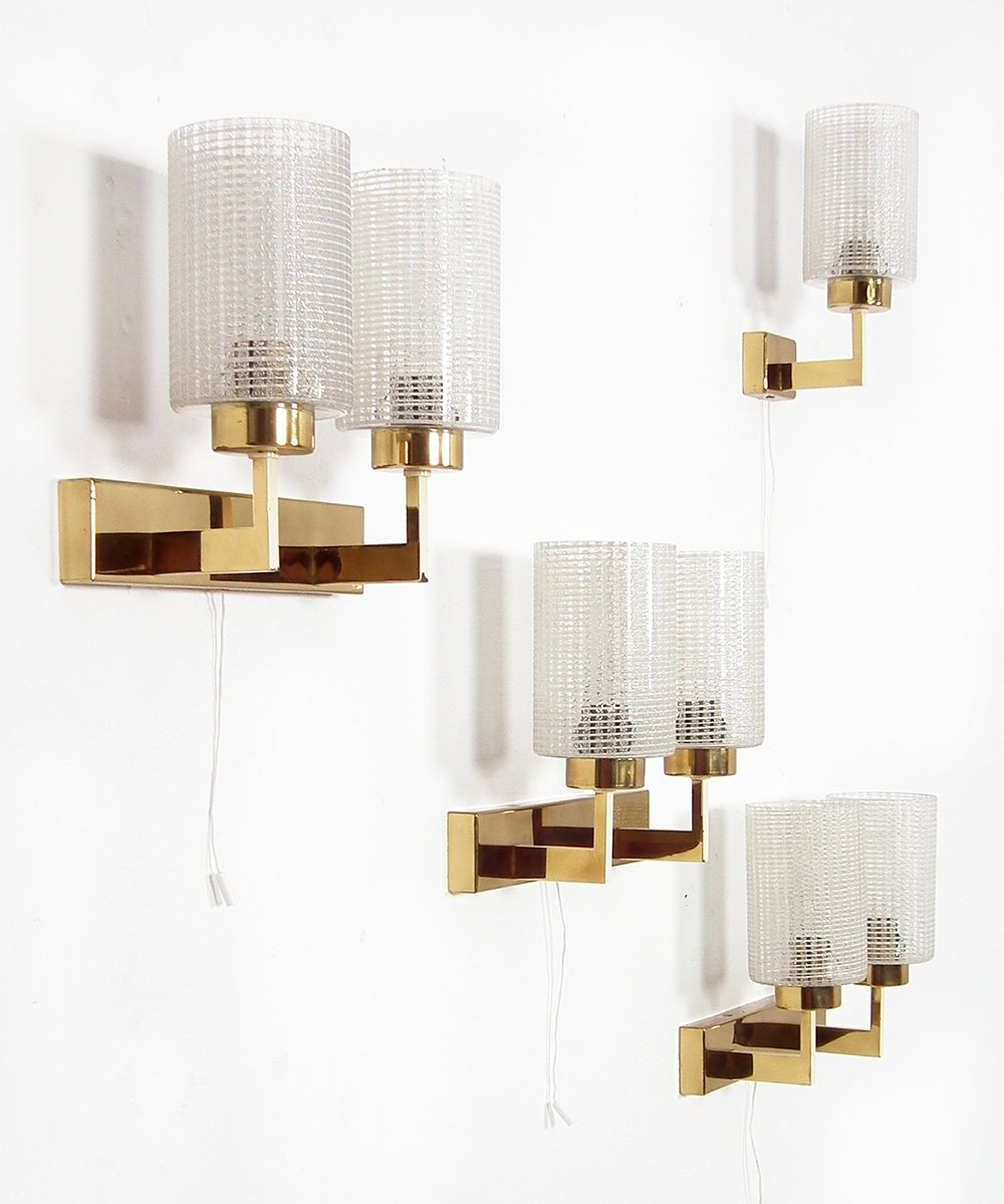 Set of 4 wall lamps from the fifties by Unknown Designer for Unknown Producer #62706