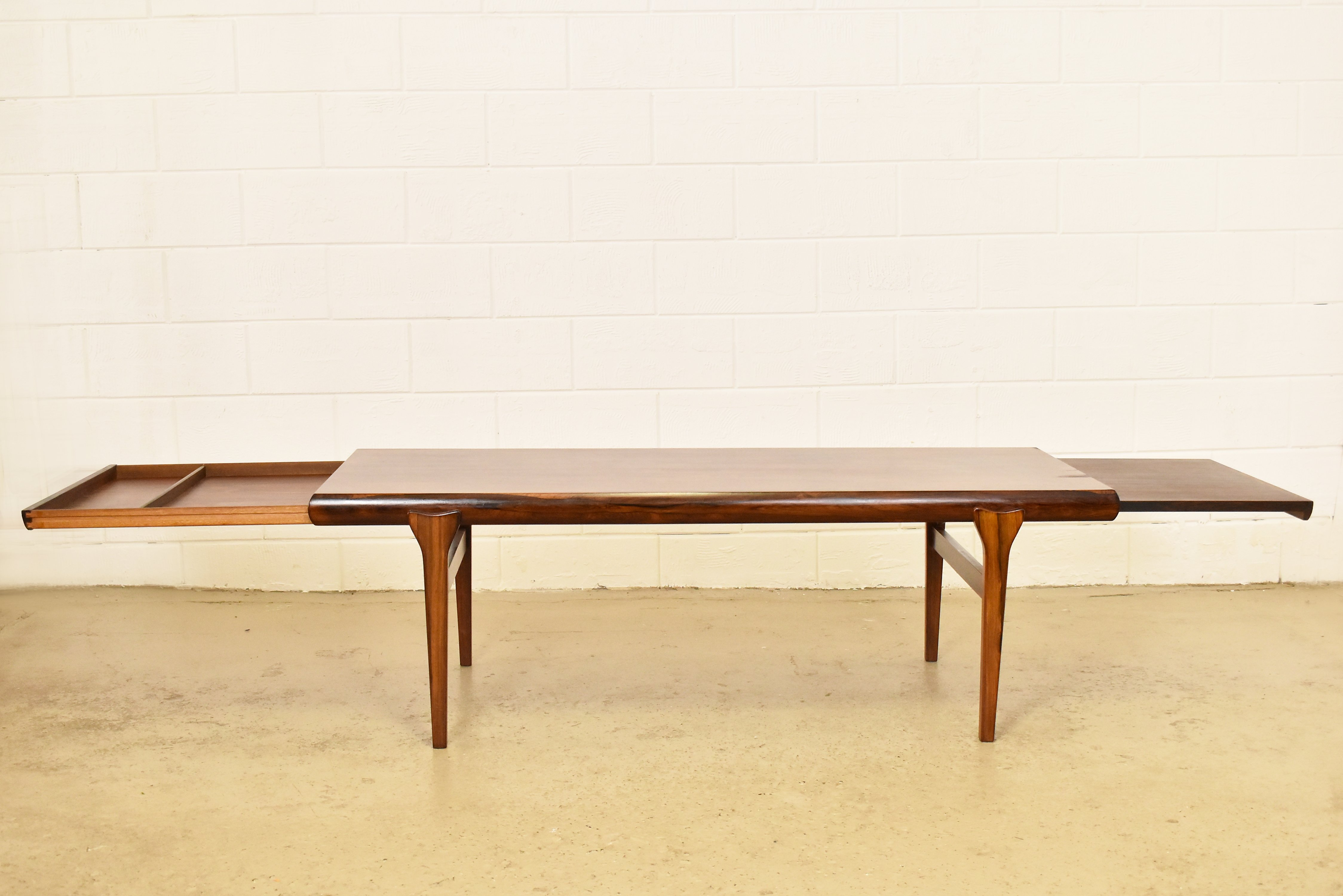 Extra Large Brazilian Rosewood Coffee Table By Johannes Andersen 1960s