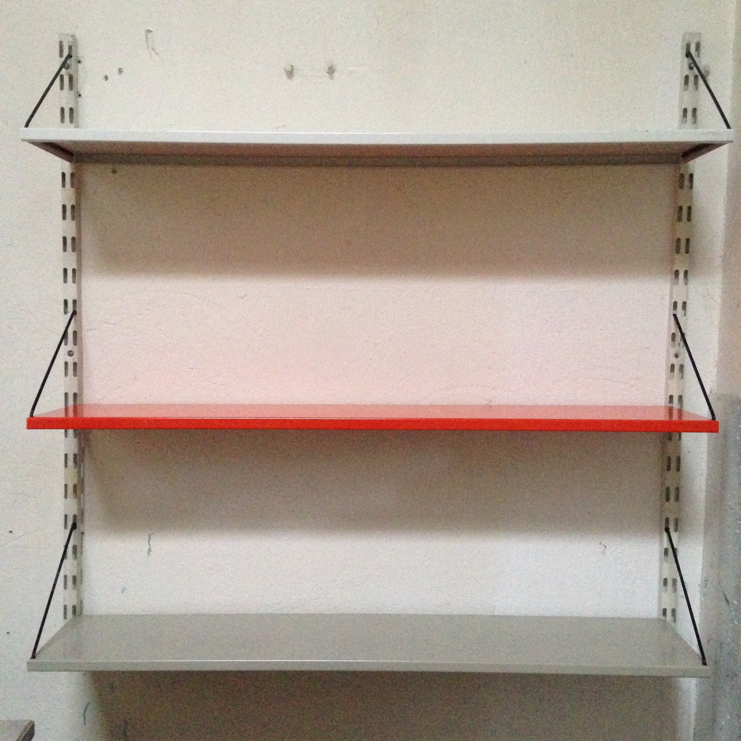 industrial metal shelving unit by pilastro 1950s - Industrial Metal Shelving