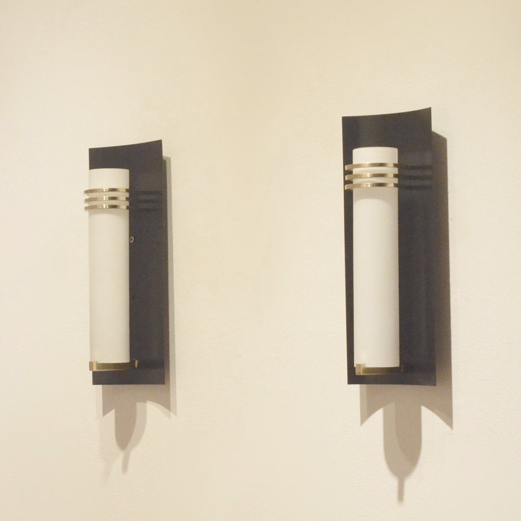 Set of 2 wall lamps from the fifties by Unknown Designer for Unknown Producer #63387