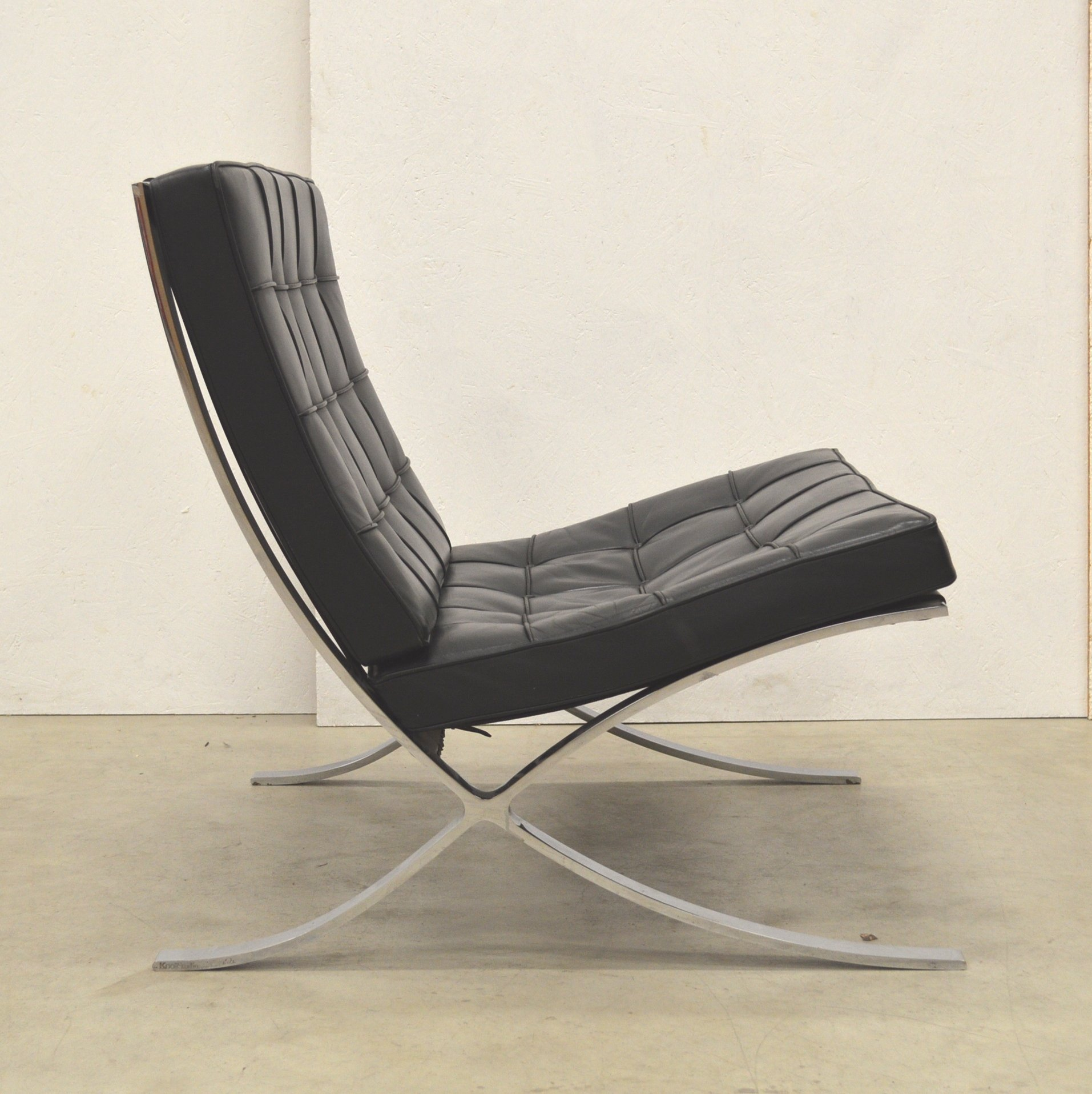 Barcelona Lounge Chair from the eighties by Ludwig Mies van der Rohe for Knol