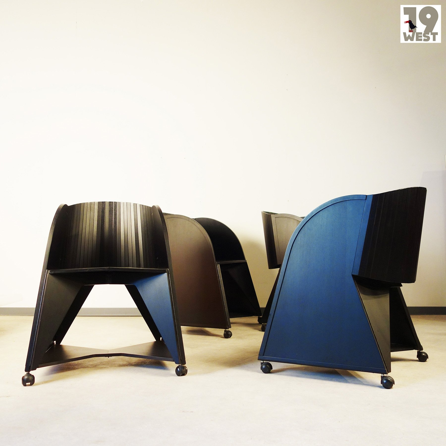 Set Of 4 Matrix Folding Chair Dinner Chairs From The