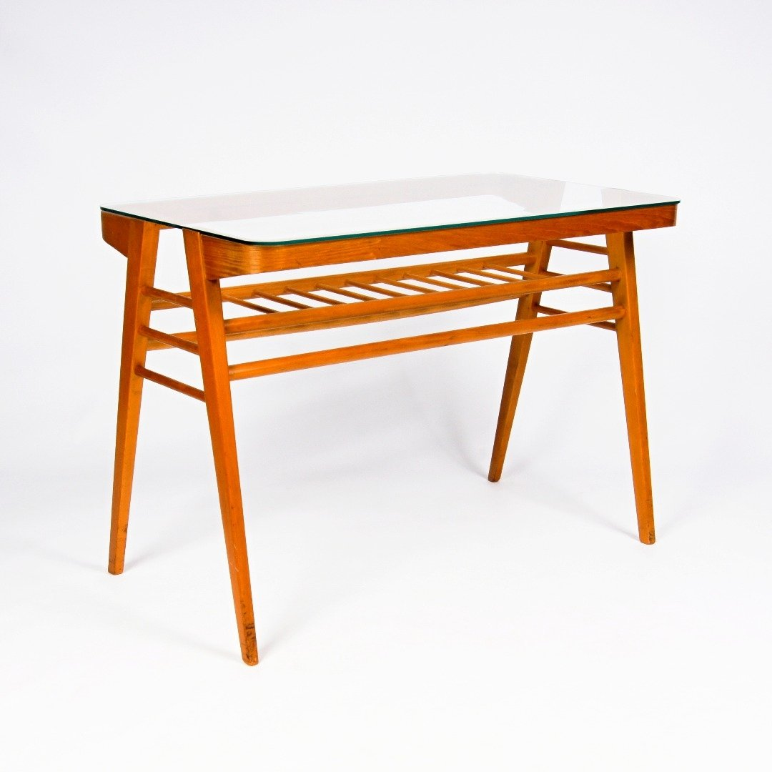 Folding coffee dining table folding coffee dining table by luv praha 1960s 63222 geotapseo Choice Image