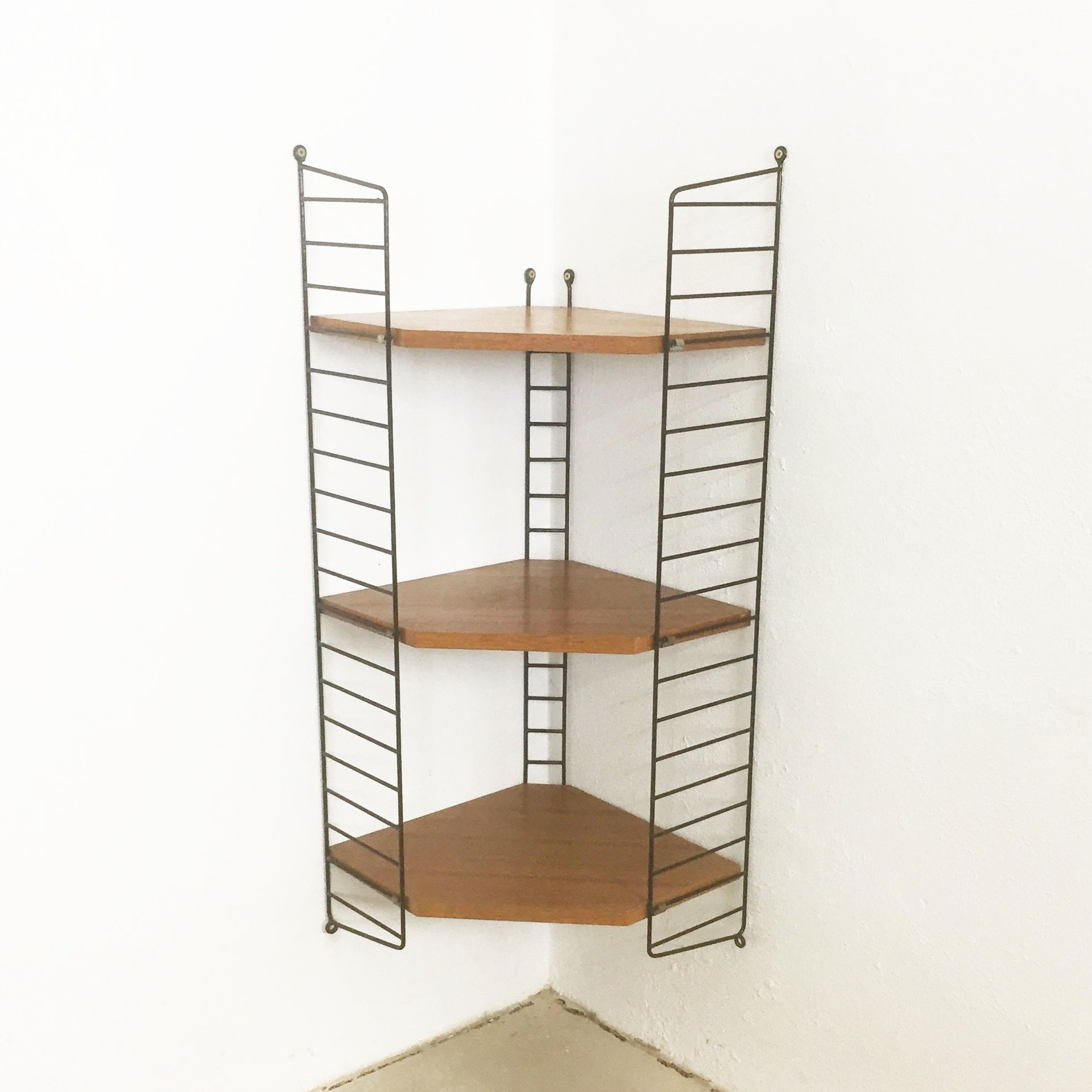 Light Teak Wood String Wall Unit By Nisse Strinning For