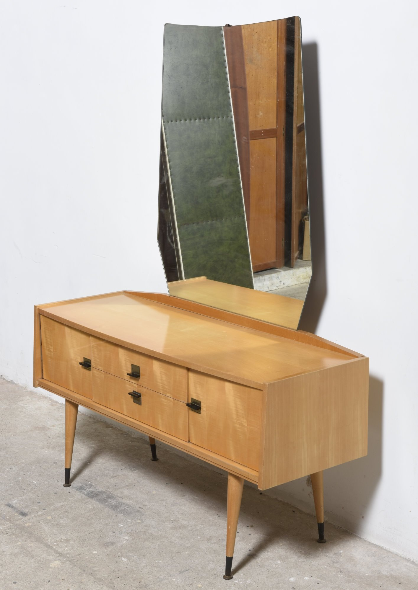 Vanity Dressing Table With Mirror, 1950s
