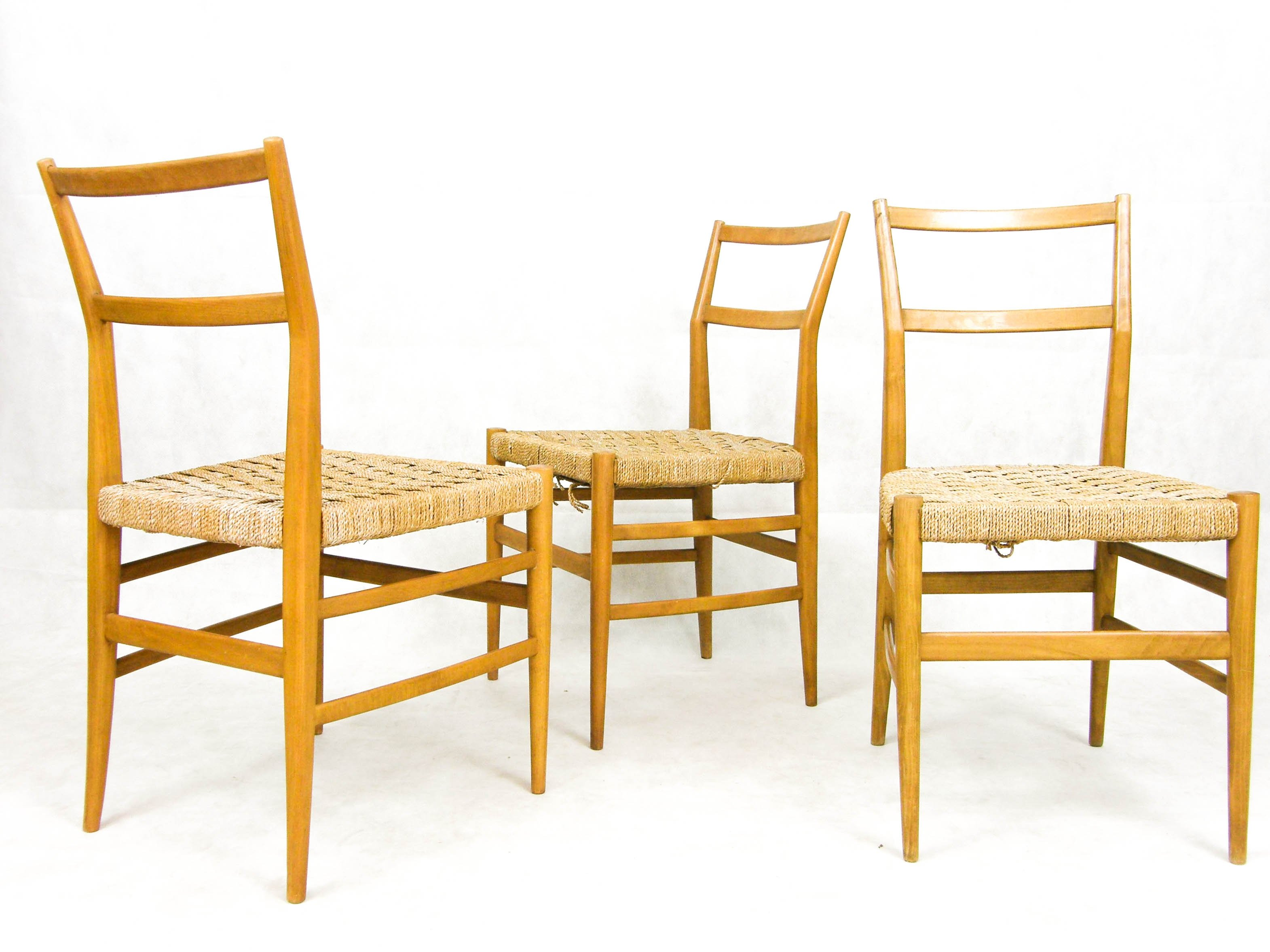 3 X Leggera Dining Chair By Gio Ponti For Cassina, 1950s | #66481
