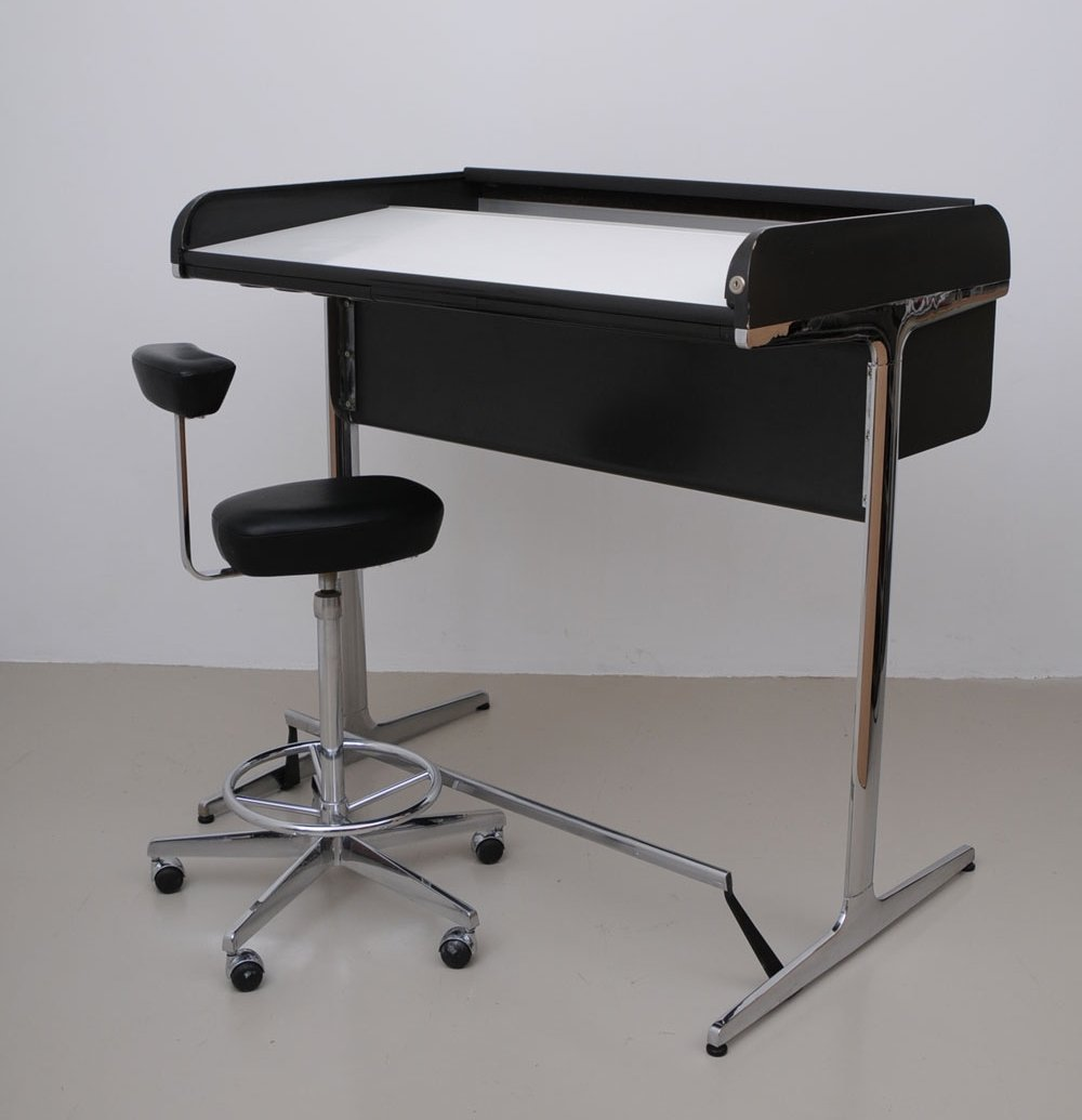 Action office writing desk by george nelson for herman miller 1960s 67644 - Herman miller office desk ...