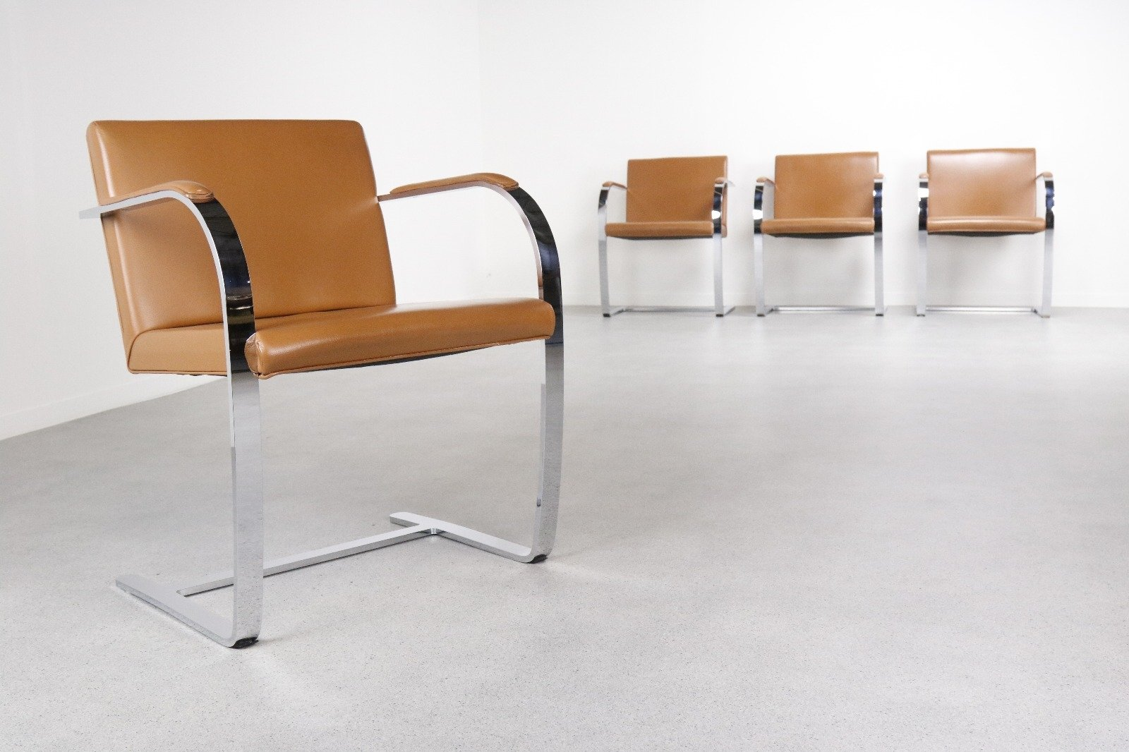 Captivating Set Of 4 BRNO Dinner Chairs By Ludwig Mies Van Der Rohe For Knoll  International, Photo Gallery