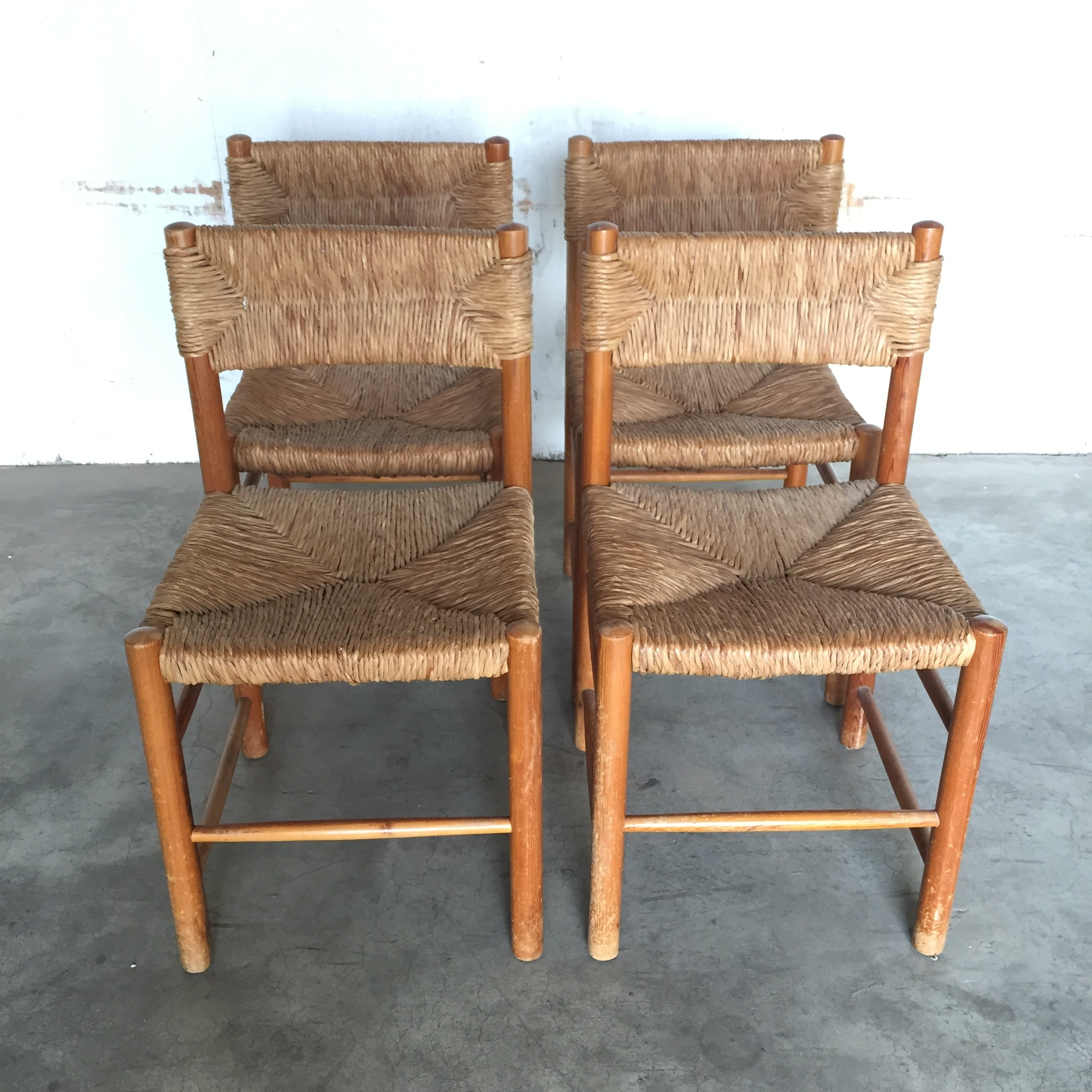 Set of 4 French pine chairs by Charlotte Perriand for Sentou 1960s  sc 1 st  VNTG & Set of 4 French pine chairs by Charlotte Perriand for Sentou 1960s ...