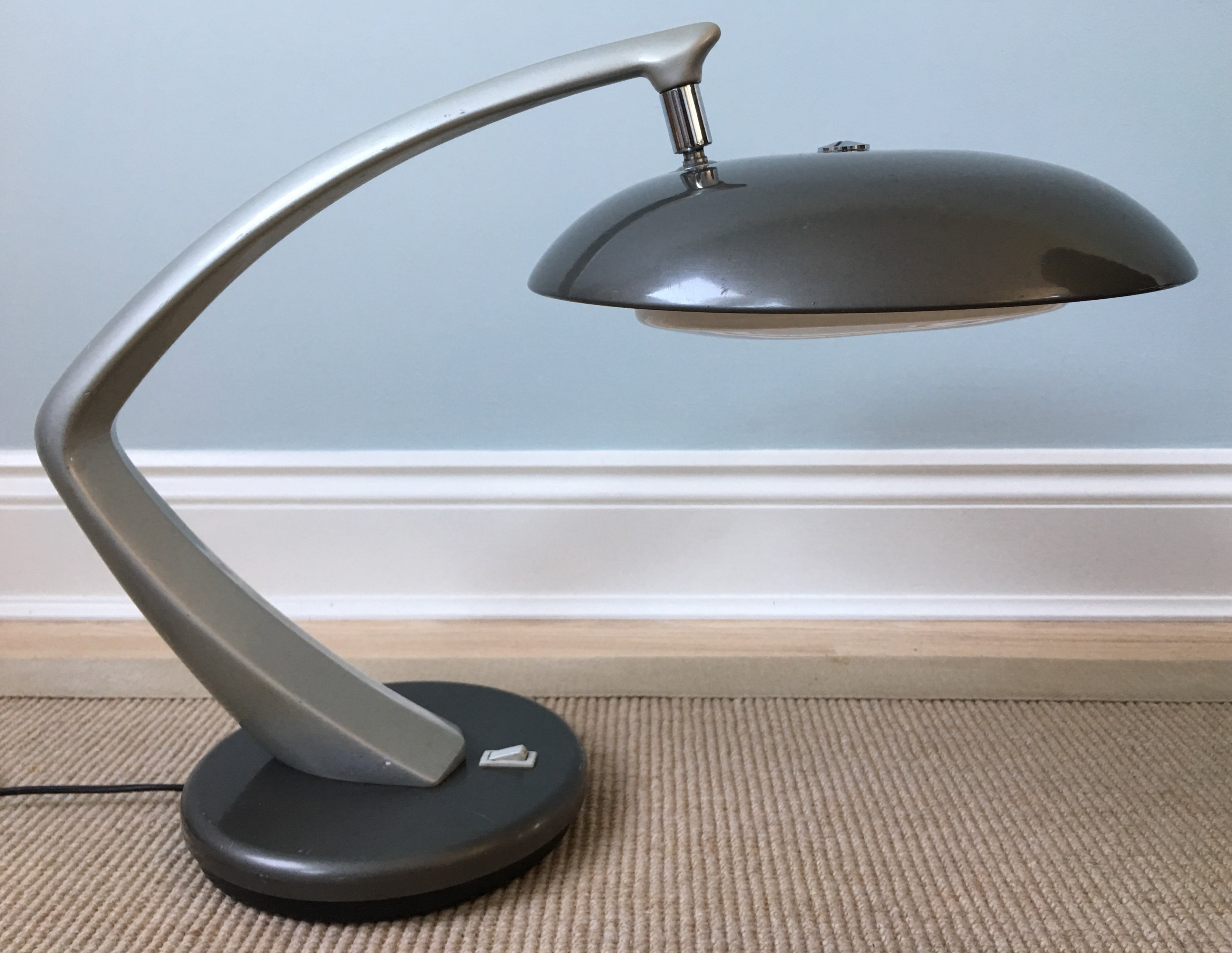Boomerang Desk Lamp By Fase 1960s