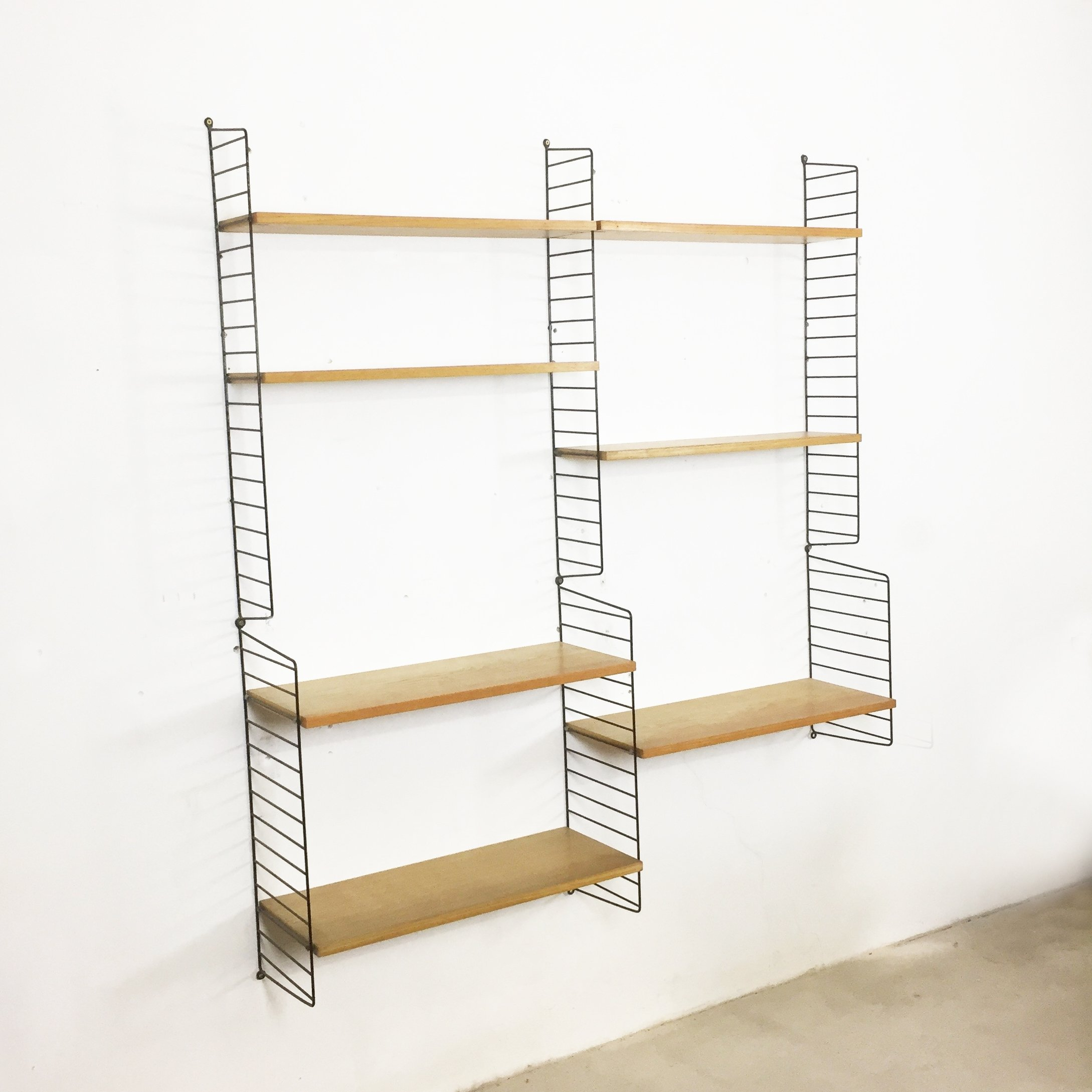 Ash Wood Wall Unit By Nisse Strinning For String Design Ab