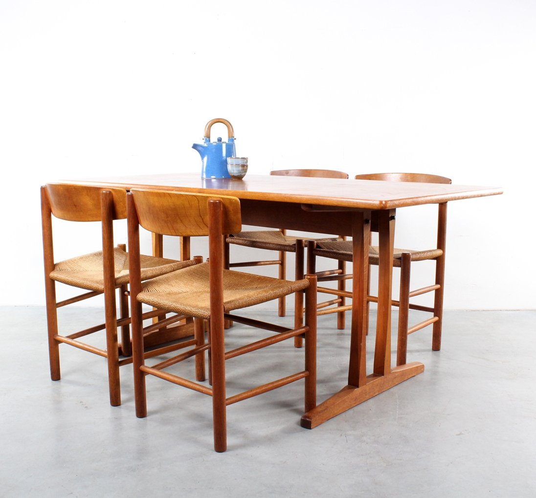 Dinner set with J39 chairs u0026 C18 shaker table by FDB Møbler  sc 1 st  VNTG & Dinner set with J39 chairs u0026 C18 shaker table by FDB Møbler | #69193