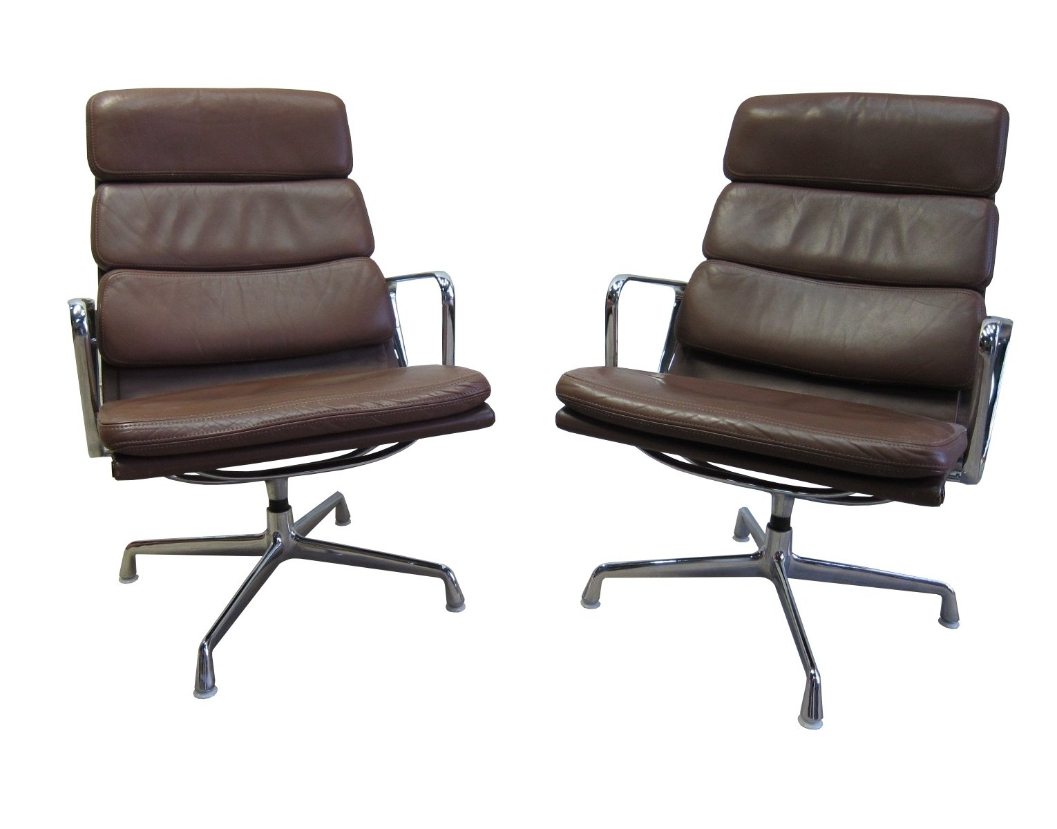 Ea216 softpad lounge chairs by eames for herman miller by vitra 69516 - Eames chair herman miller ...