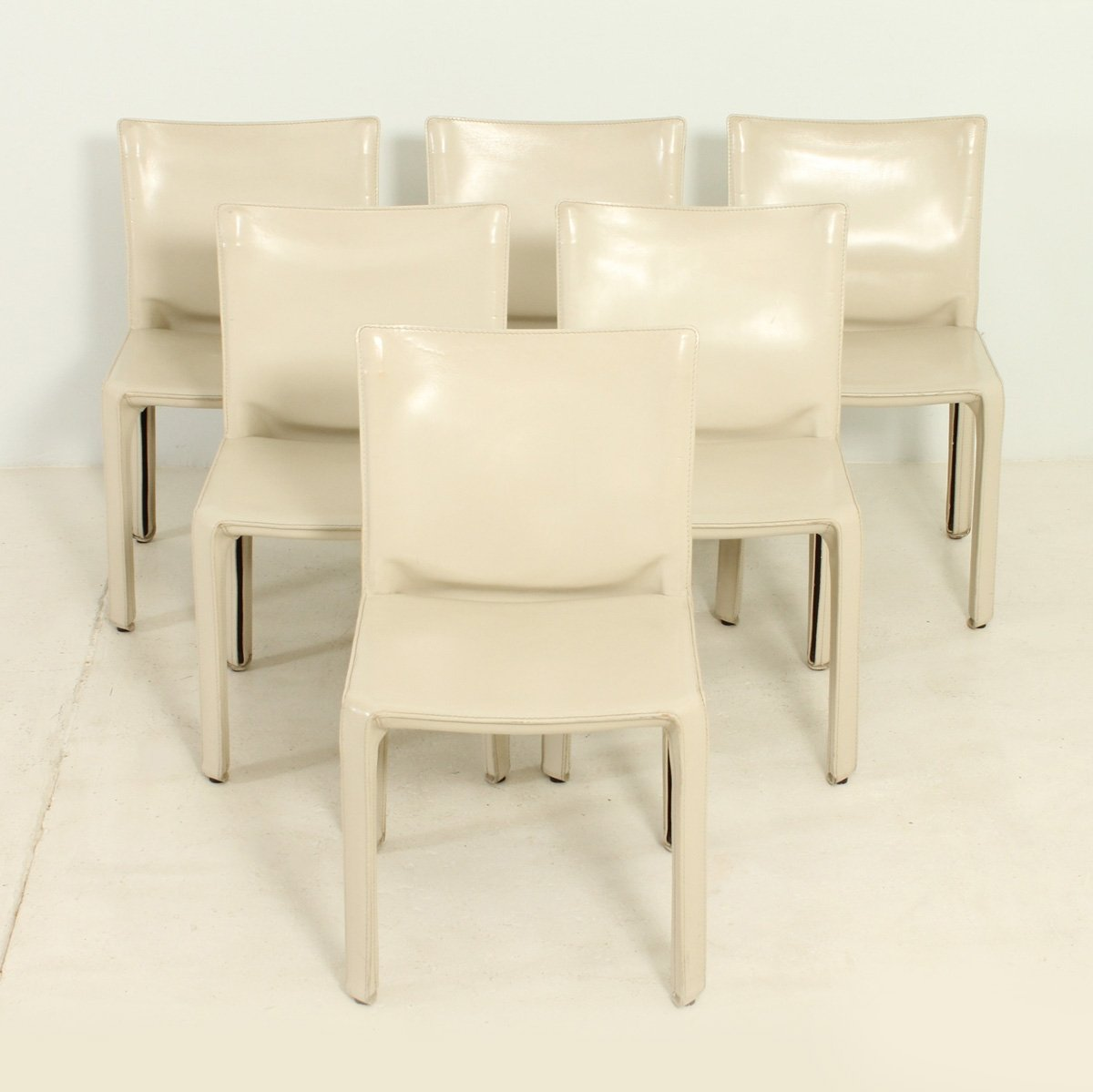Set Of Six Cab Chairs By Mario Bellini 69648