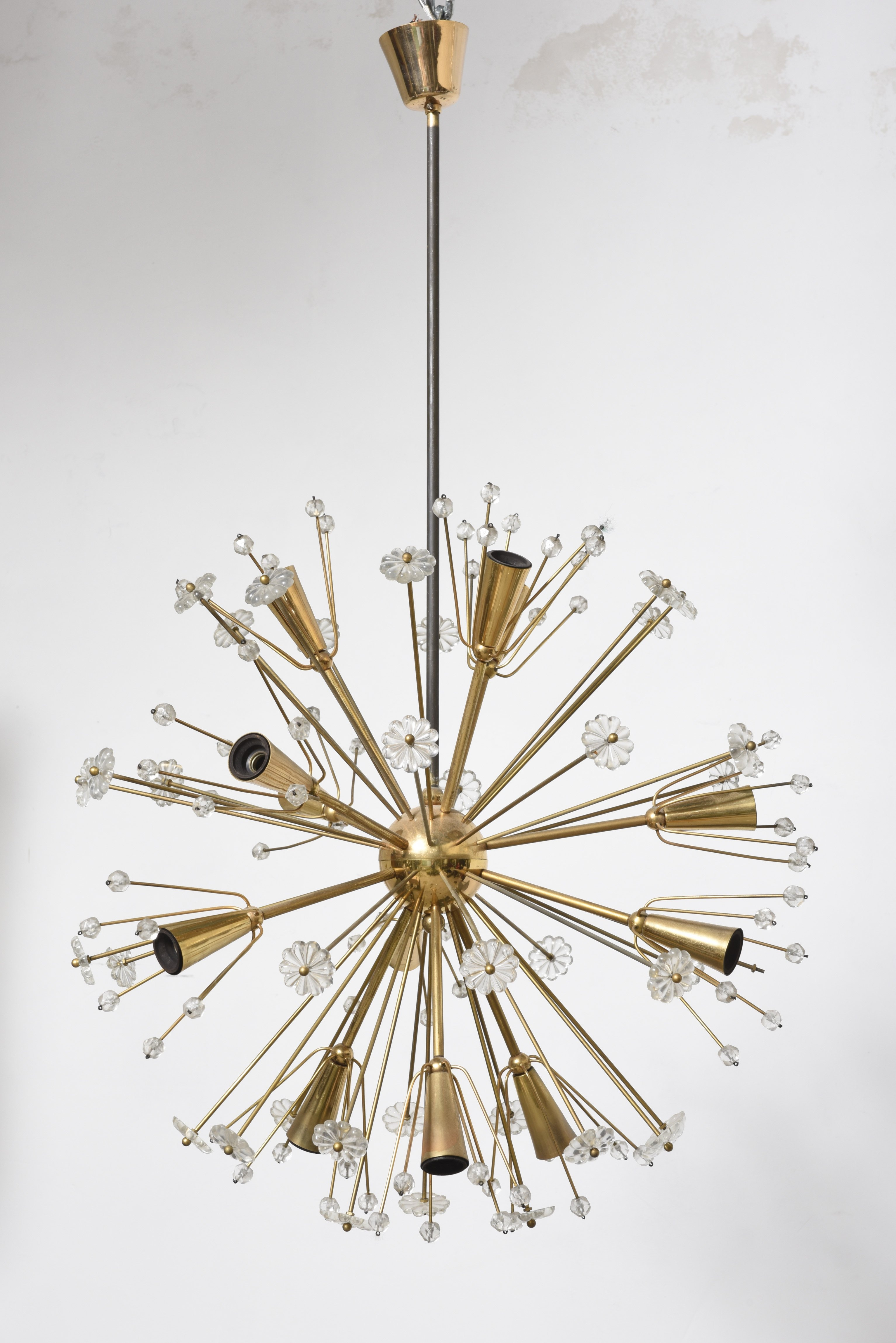 Large gold plated sputnik chandelier by emil stejnar for rupert large gold plated sputnik chandelier by emil stejnar for rupert nikoll mozeypictures Image collections