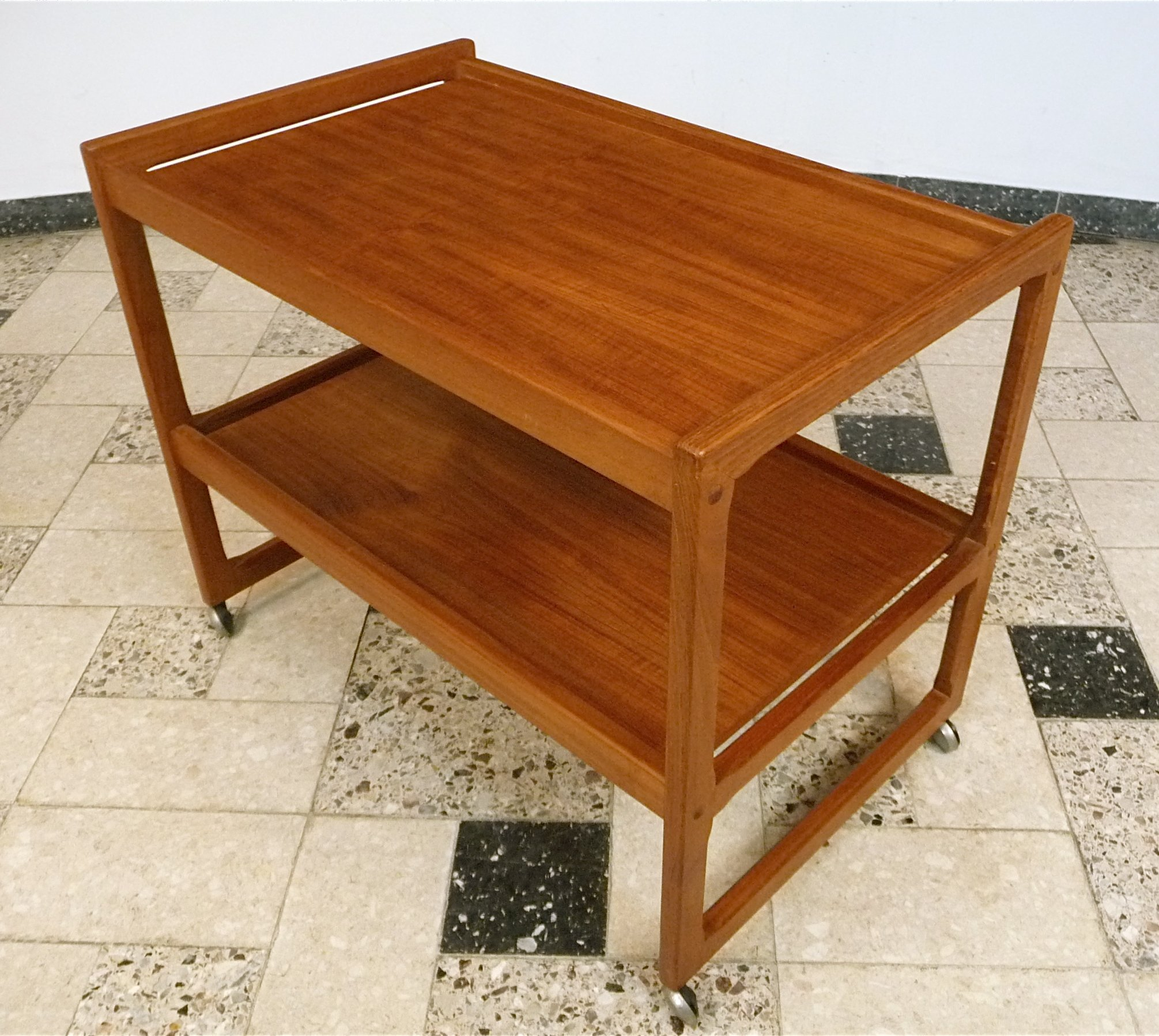 Danish Teak Serving Trolley 1960s 70816