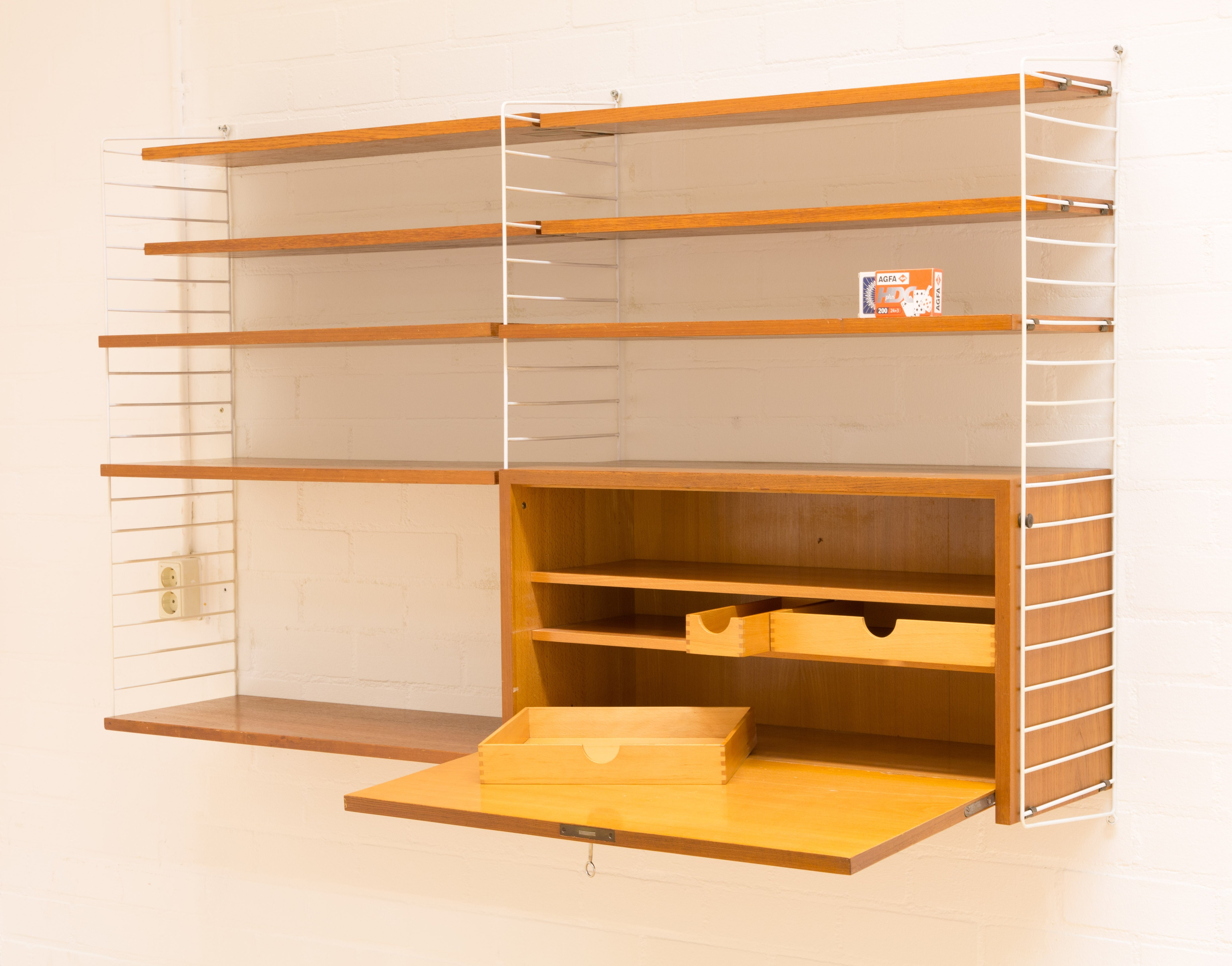 String Wall System With Desk By Nisse Strinning Sweden 1960s