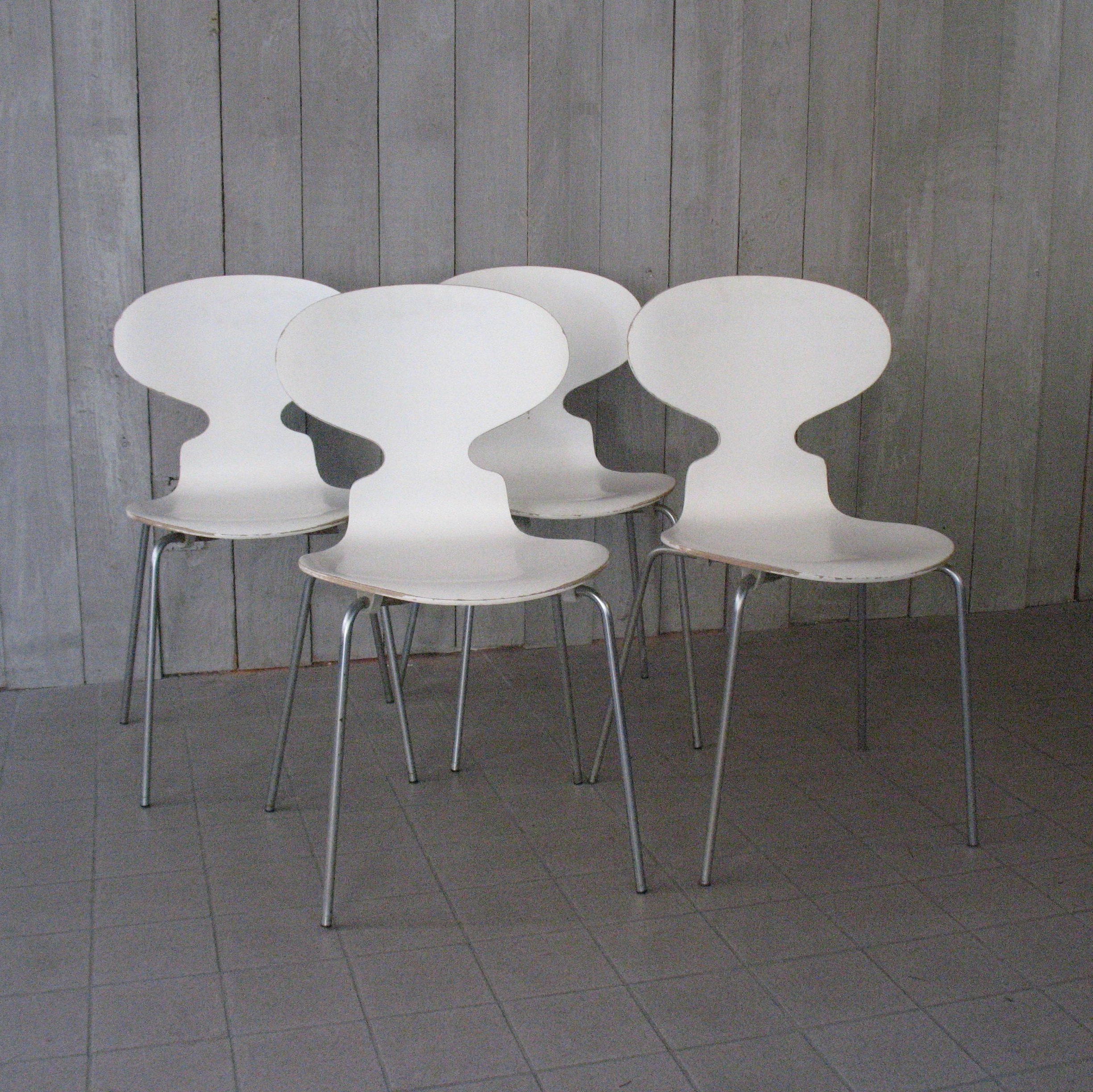 4 x Model 3100 Ant dinner chair by Arne Jacobsen for Fritz Hansen 1970s