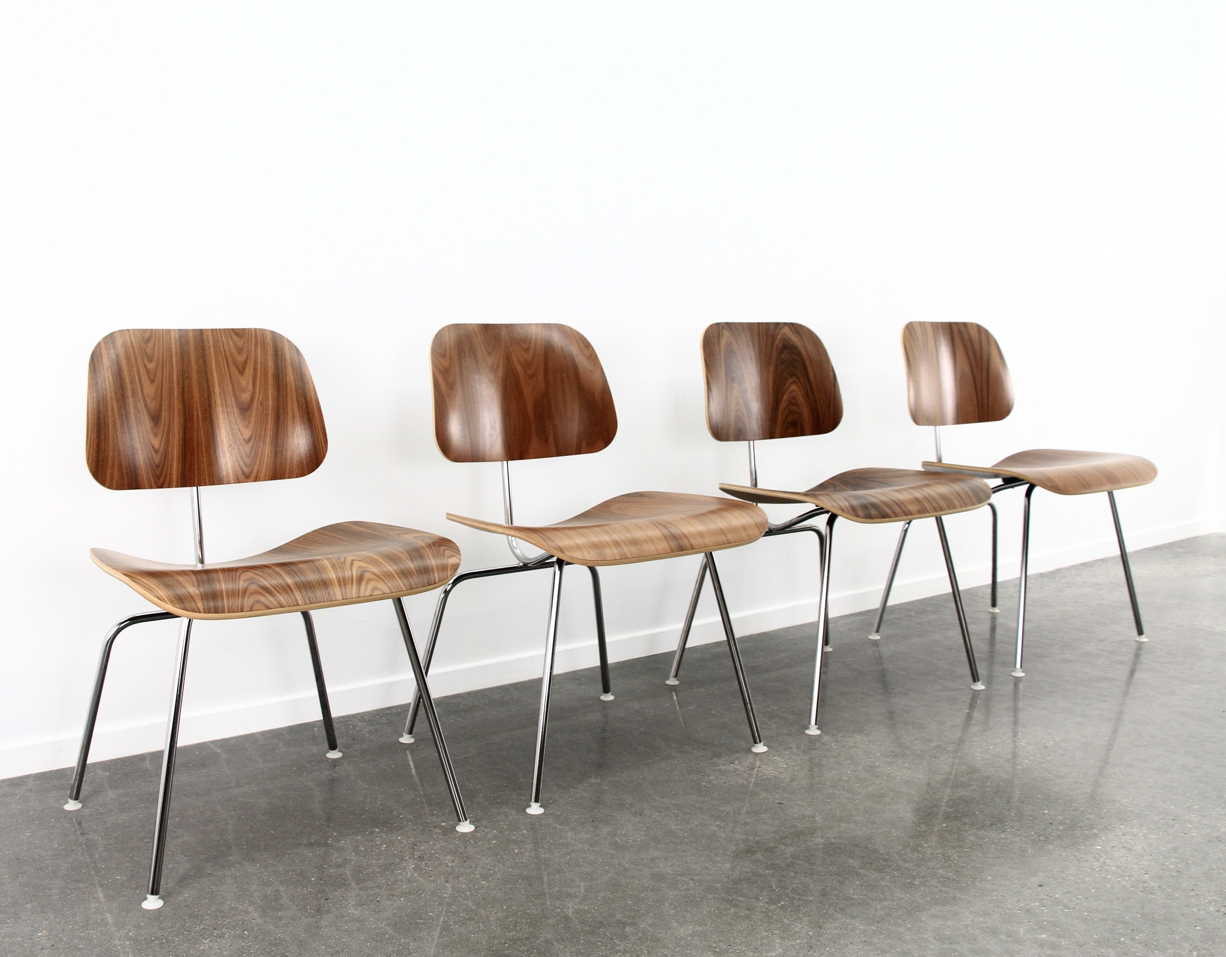 Set of 4 Eames DCM dining chair metal in santos  : set of 4 eames dcm dining chair metal in santos palissander finish from www.vntg.com size 4016 x 3136 jpeg 5104kB