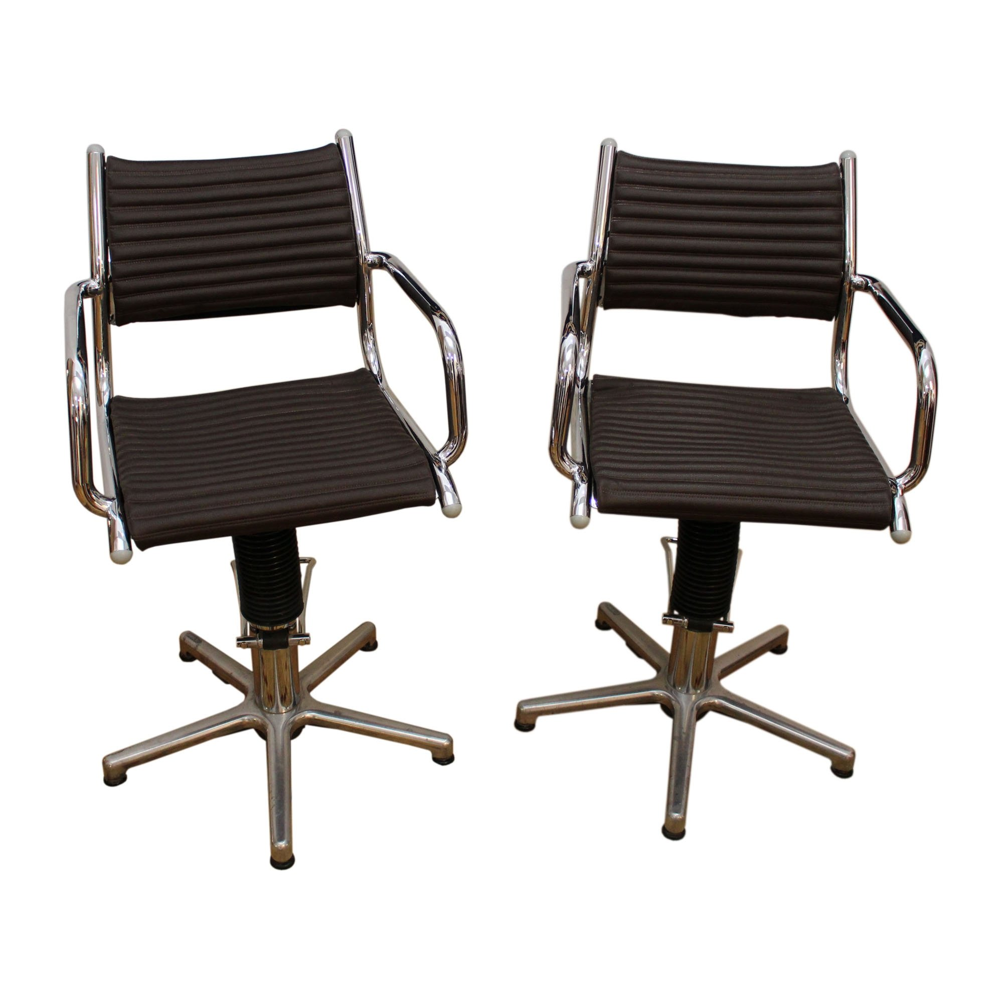 two swivel rotating chairs made in germany by olymp in the 1970s 71153. Black Bedroom Furniture Sets. Home Design Ideas