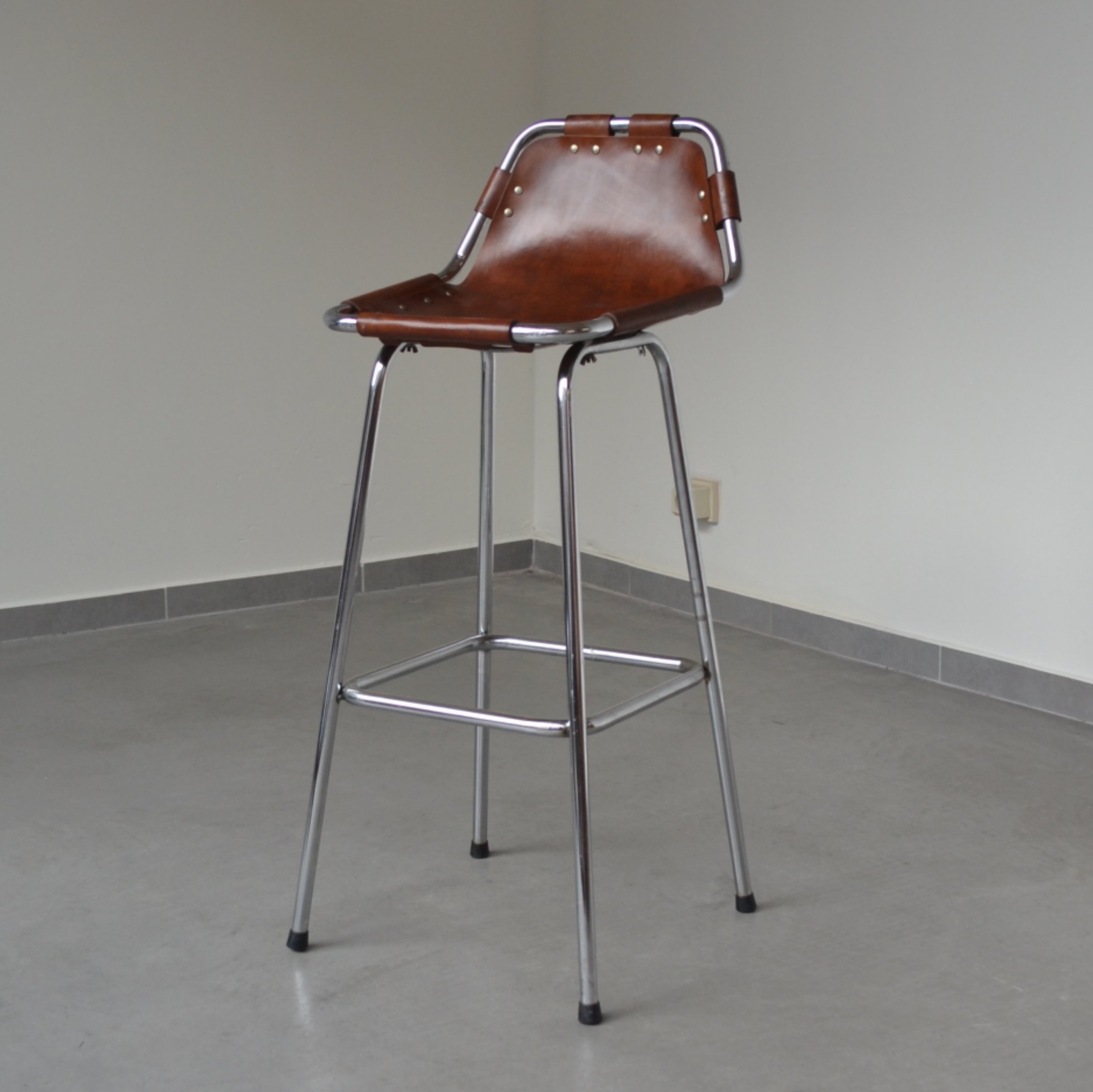 Pair Of Les Arcs Bar Stools By Charlotte Perriand 1960s