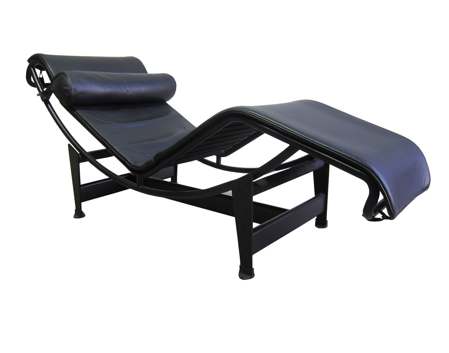 Vintage cassina lc4 39 chaise longue 39 black version 71827 for Cassina chaise lounge