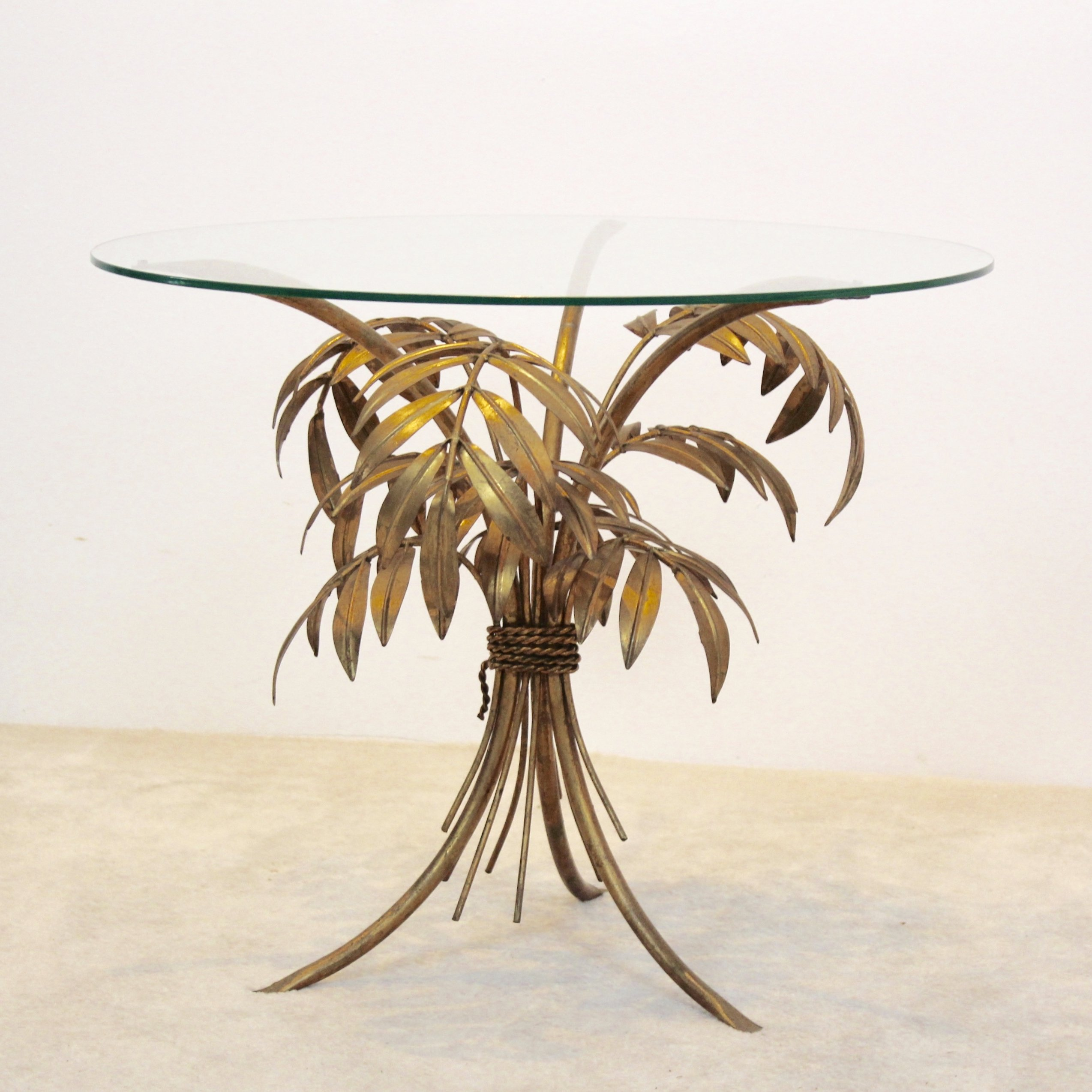Hollywood Regency Gilt Palm Tree Coffee Table By Hans Kögl, Germany