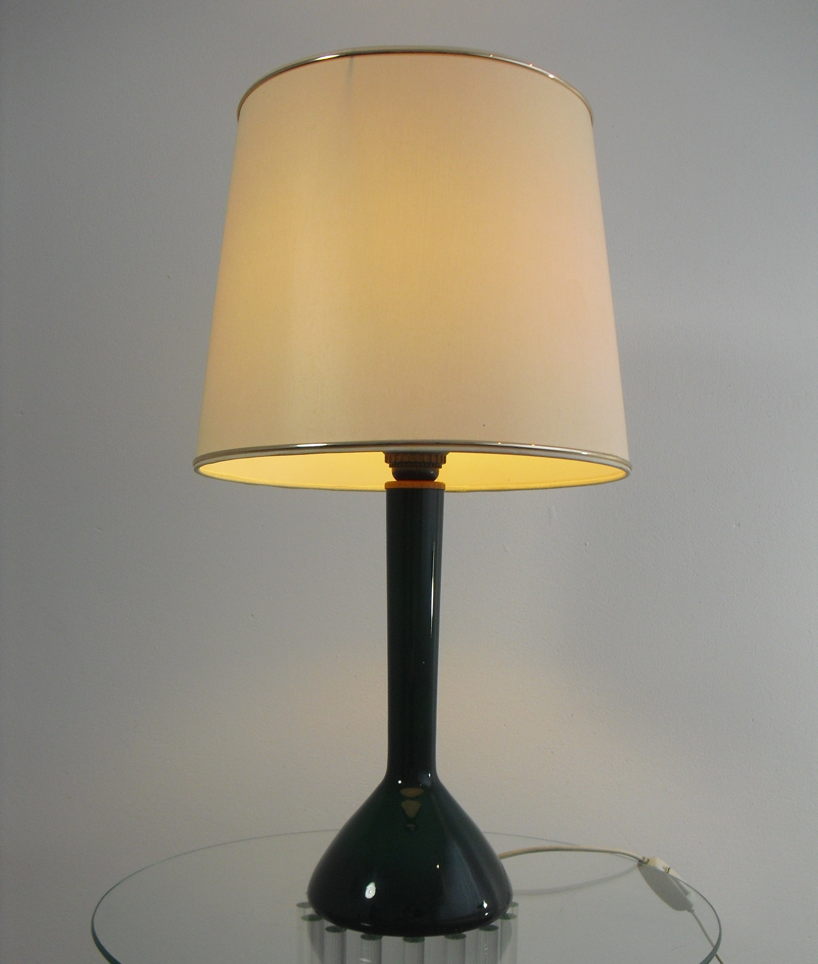 Green Glass Table Lamp By Holmegaard, 1960