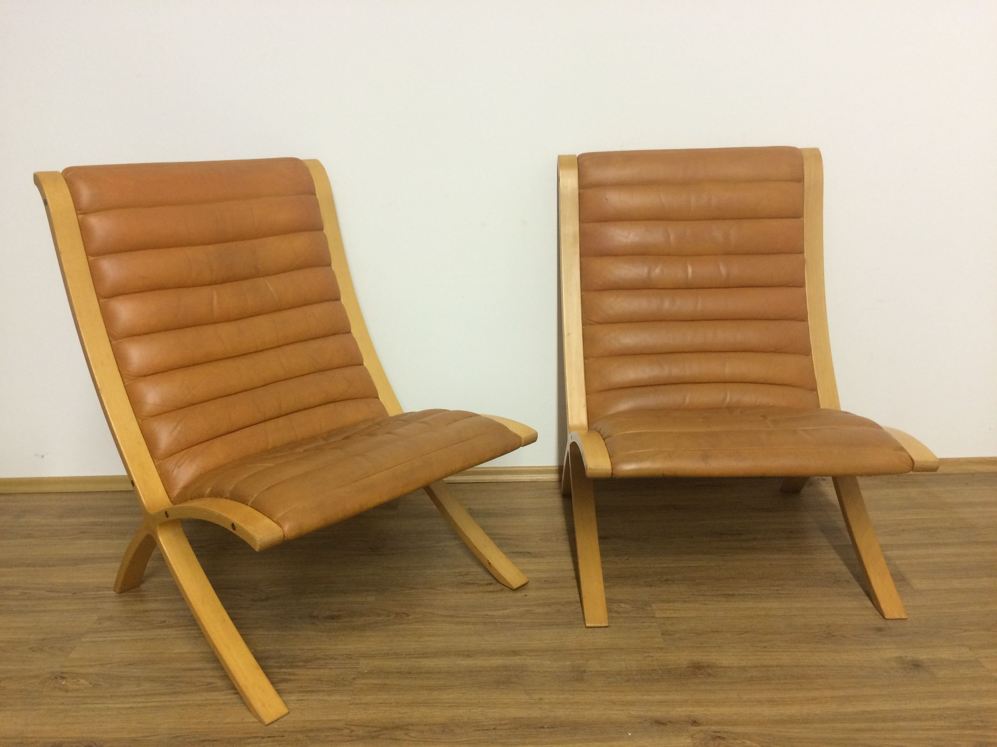 Pair Of Cognac Leather U0027Axu0027 Chairs By Peter Hvidt U0026 Orla Mølgaard Nielsen Amazing Ideas