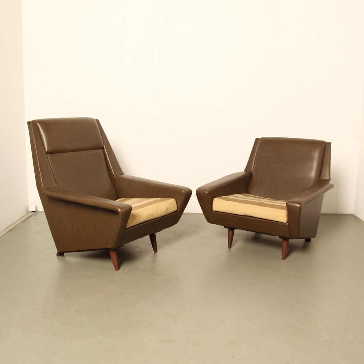 Pair Of Vintage Scandinavian Modern Lounge Chairs By Folke Ohlsson