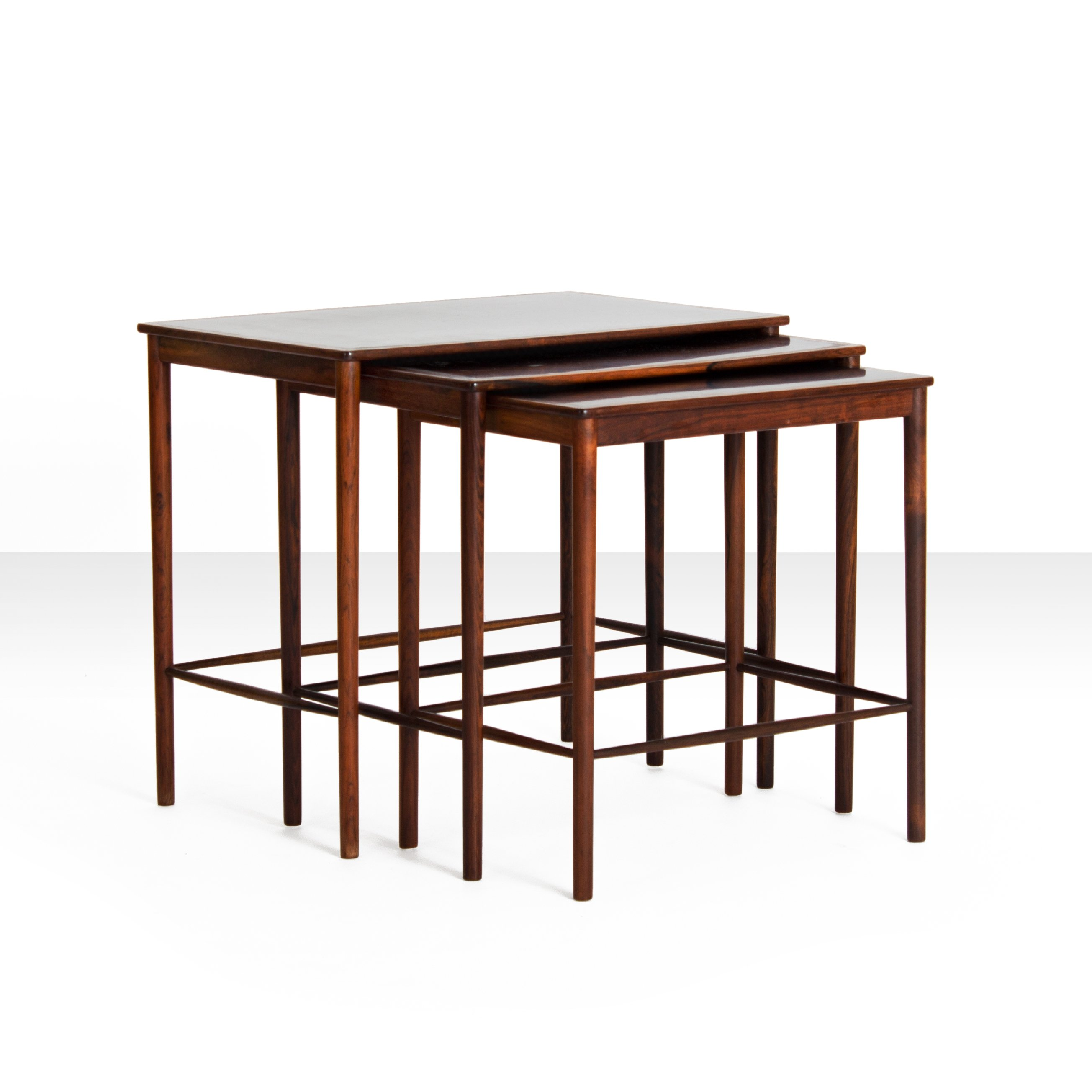 Set Of Rosewood Nesting Tables By Grete Jalk For P. Jeppesens Møbelfabrik,  1960s Nice Look