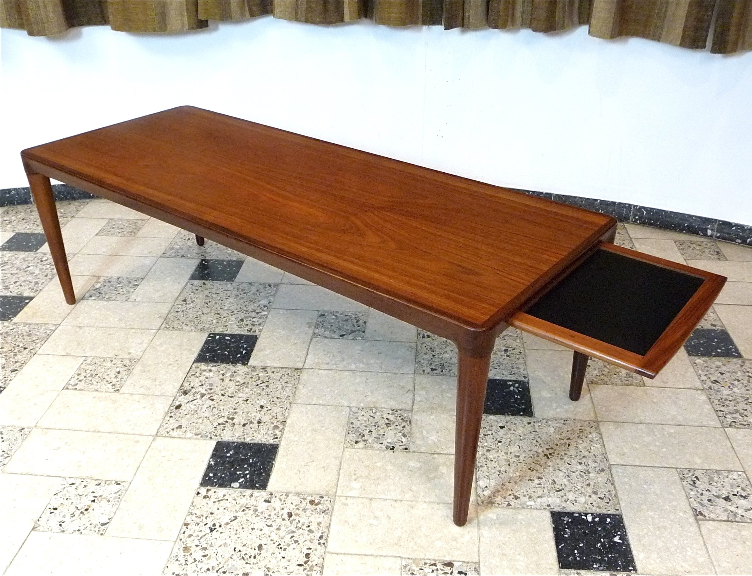 Teak Coffee Table with pull out tray 1960s
