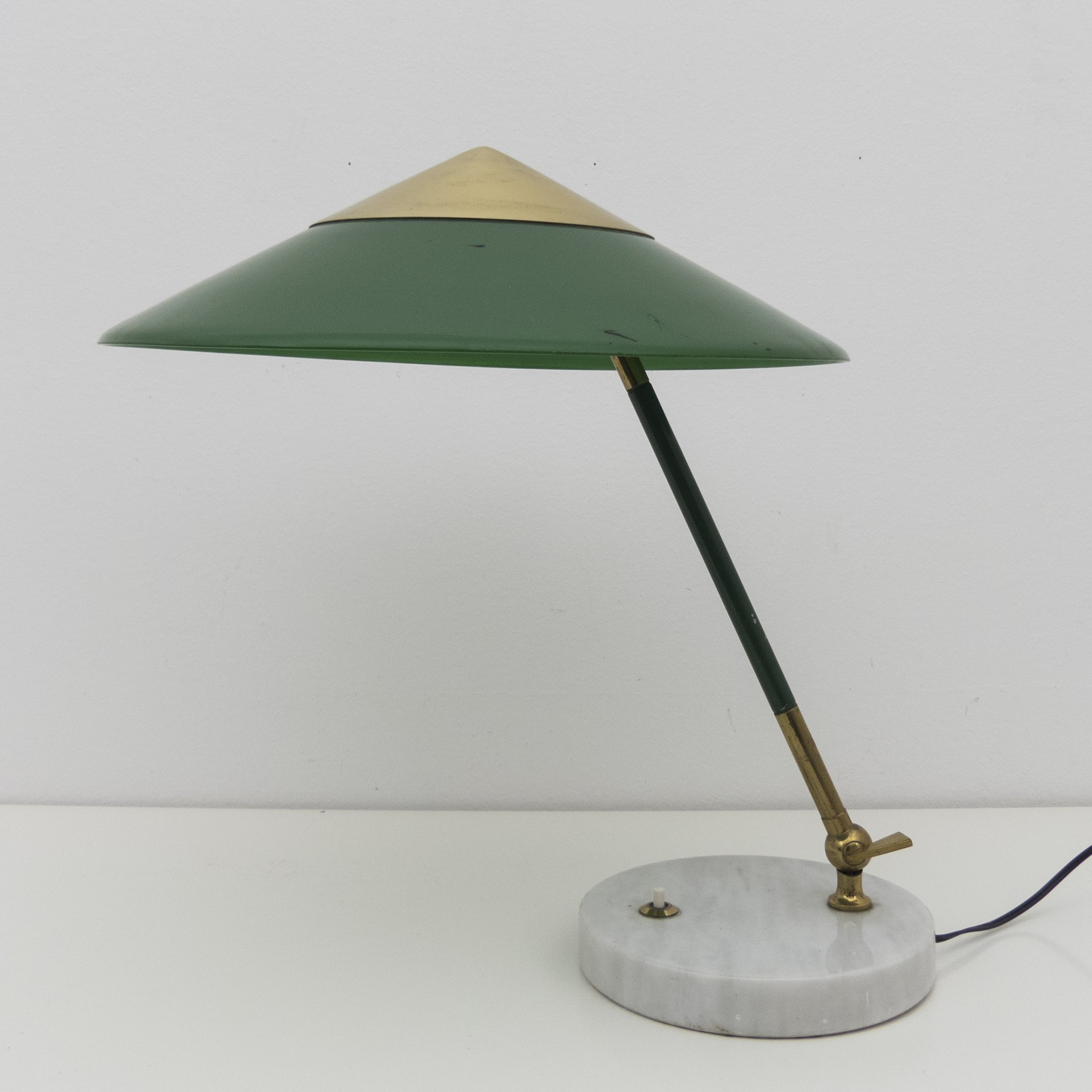 Articulated Table Lamp By Stilux Milano Late 1950s