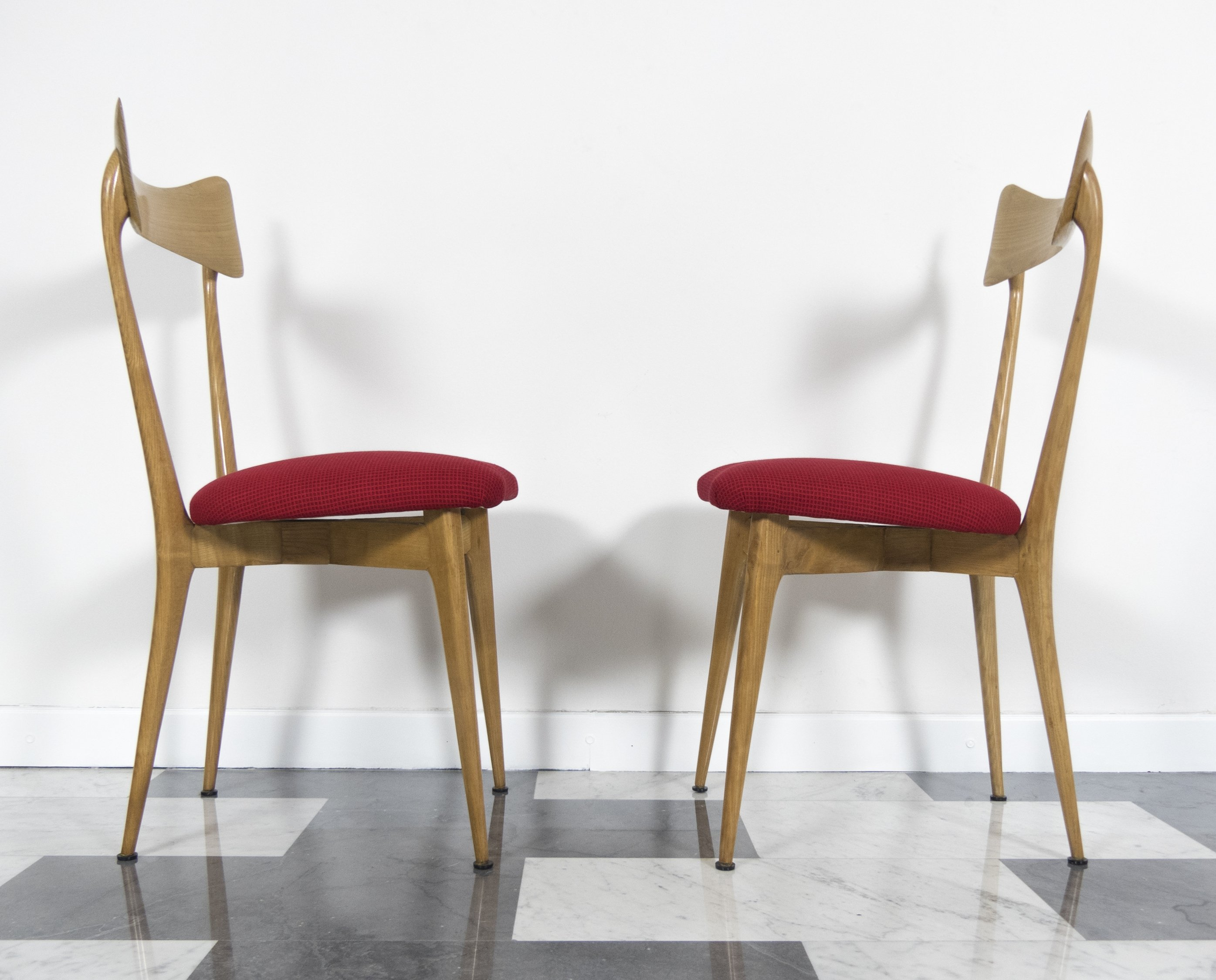 Set Of 2 Beech Chairs By Ico U0026 Luisa Parisi, 1947
