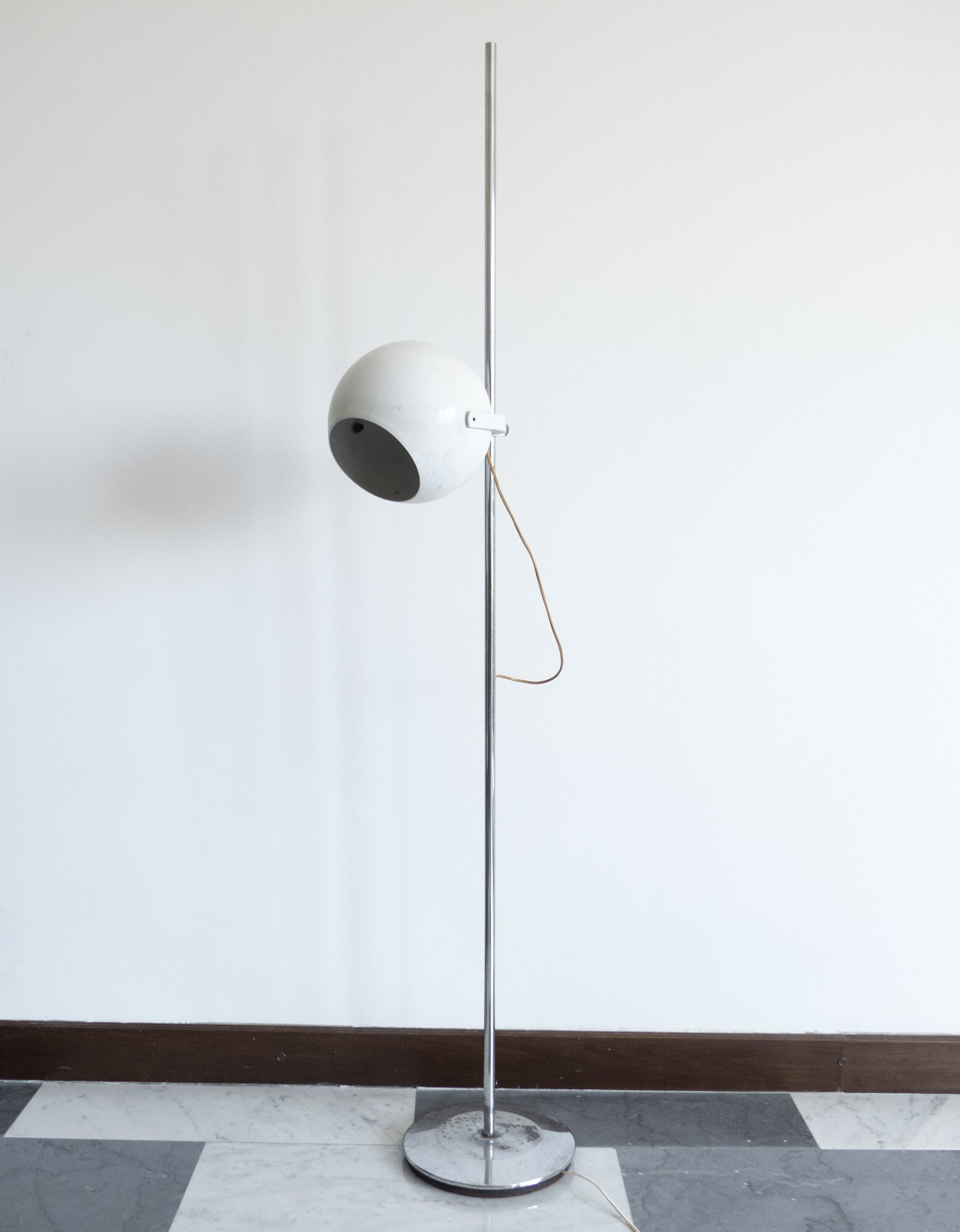 Early adjustable floor lamp by goffredo reggiani for reggiani 1960s