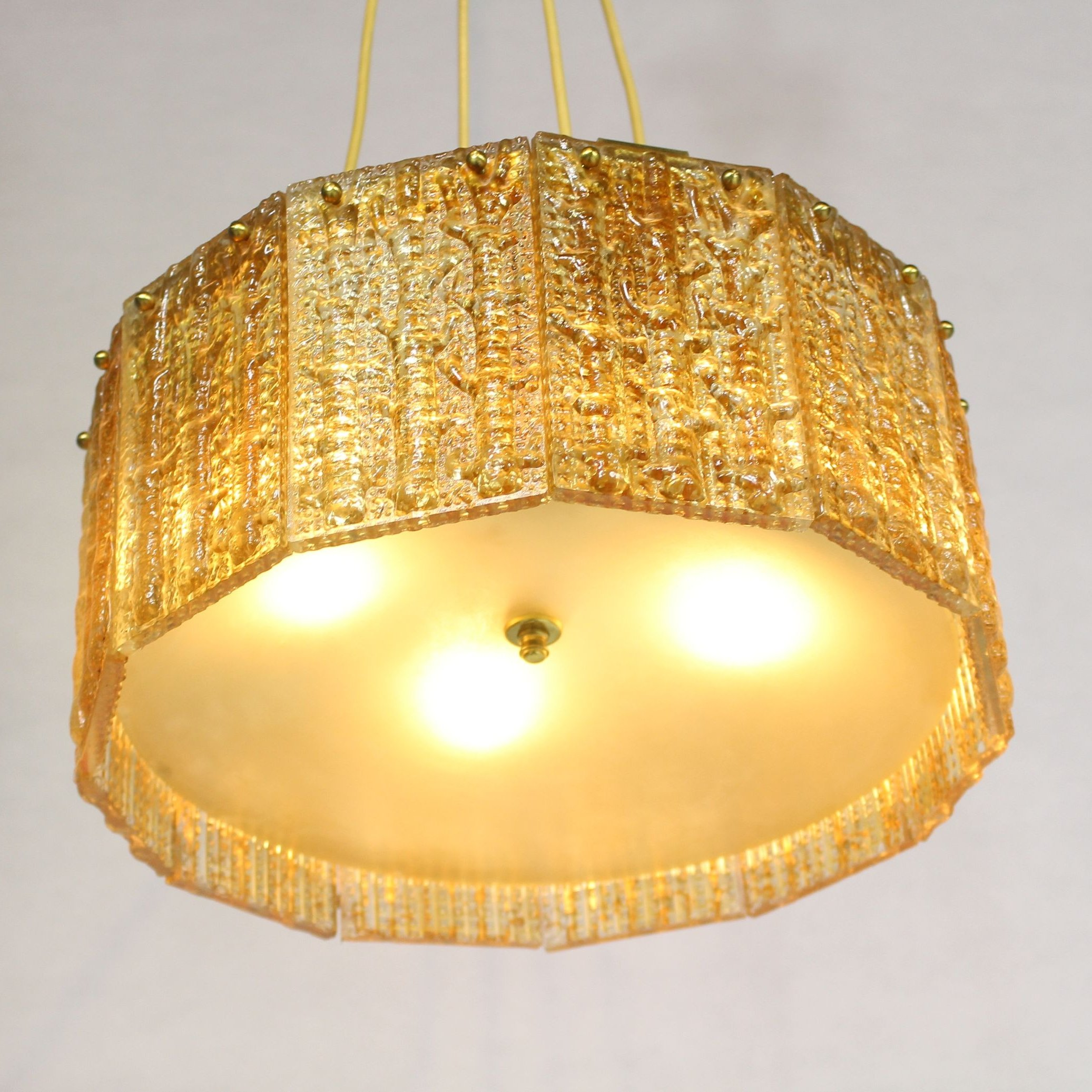 glass lamp pendant bubbled hanging cylindrical large
