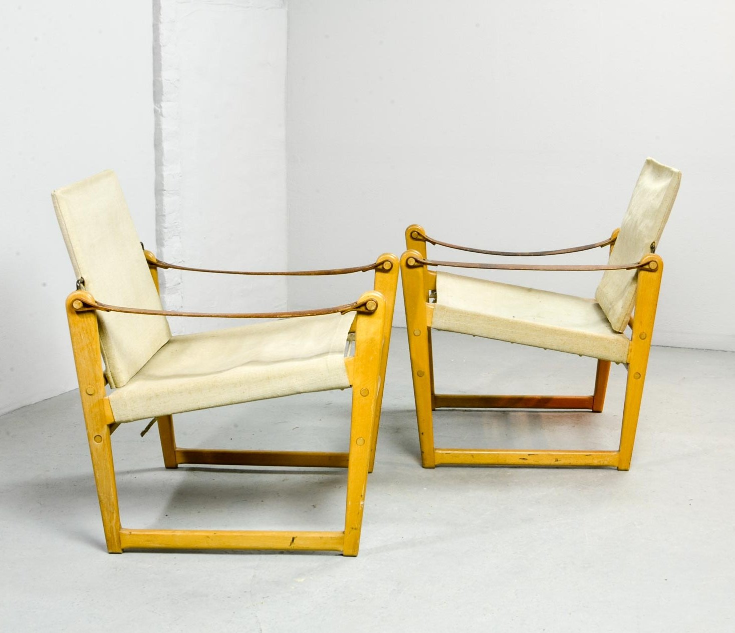Pair Of Mid Century Safari Chairs By Bengt Ruda For Ikea, 1960s