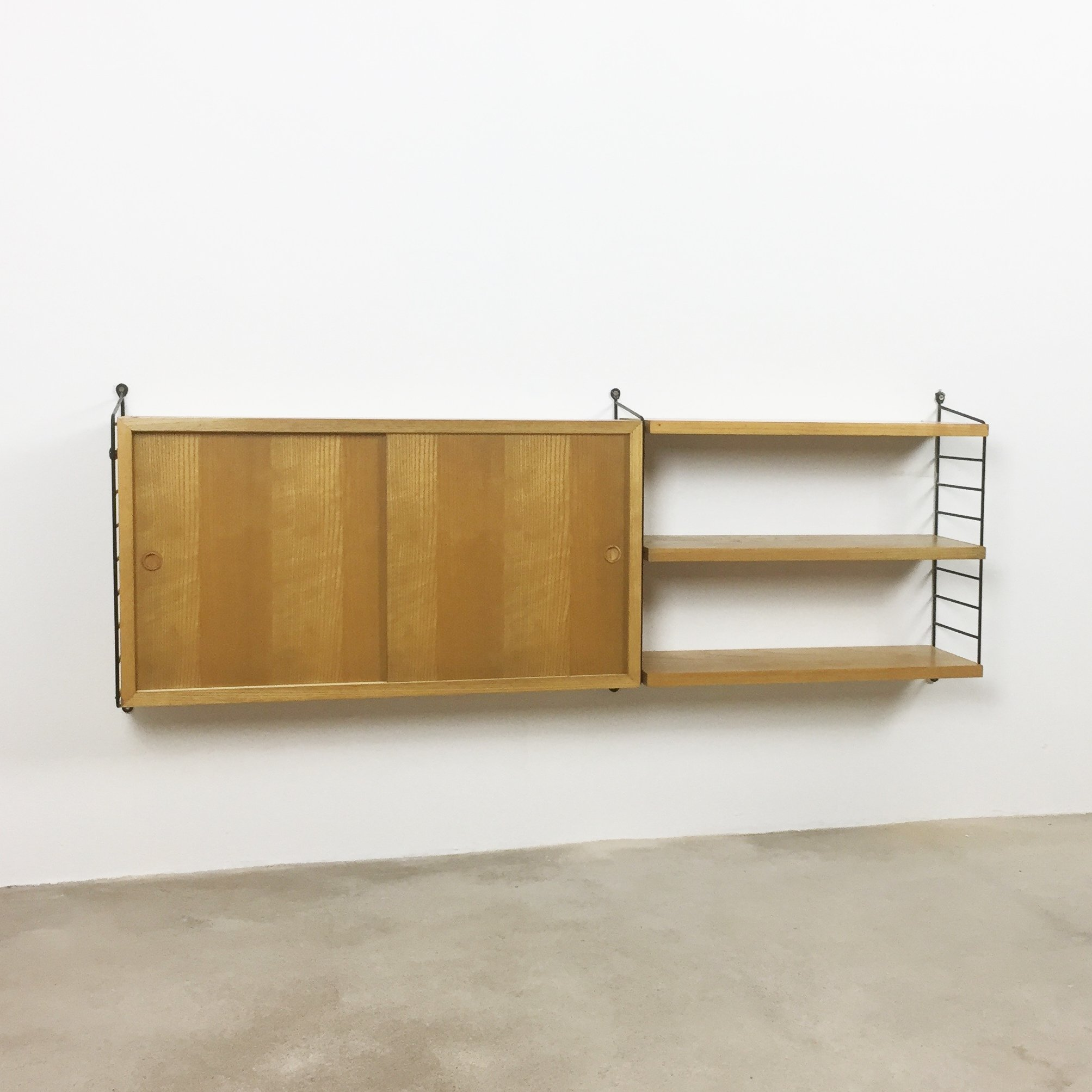 2 X Ash Wood Wall Unit By Nisse Strinning For String