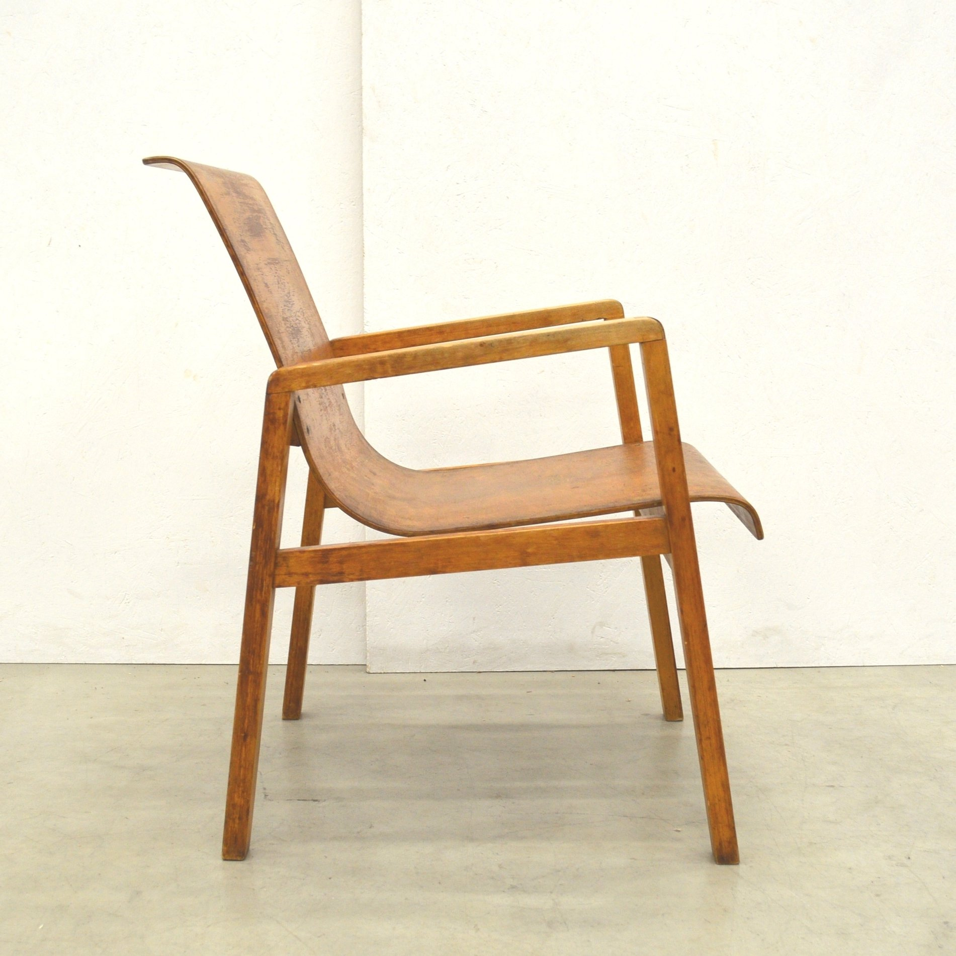 Bon Rare Early 403 Hallway Chair By Alvar Aalto From The Aurora Hospital In  Finland