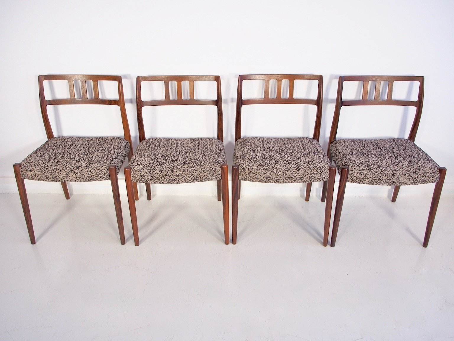 Set Of Four Rosewood Model 79 Chairs By Niels Otto Møller