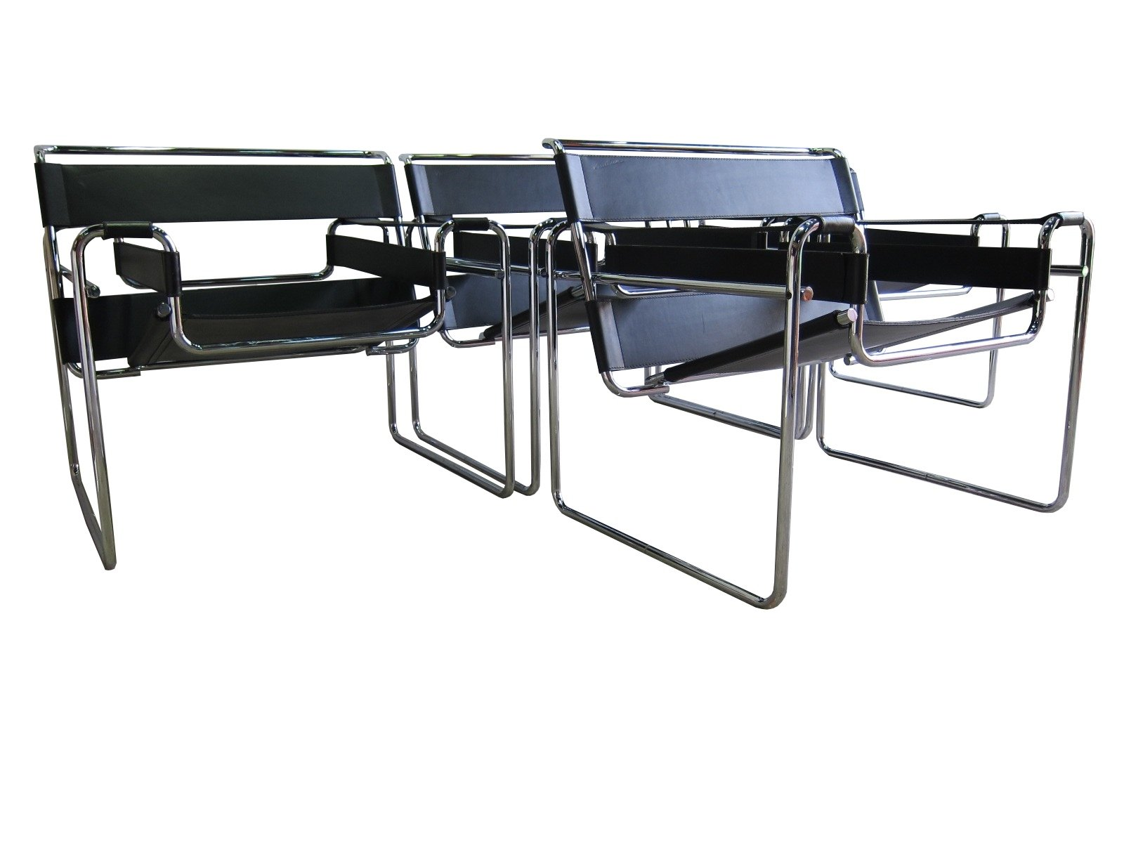 vintage marcel breuer b3 wassily chairs for gavina for knoll 1970s 74333. Black Bedroom Furniture Sets. Home Design Ideas