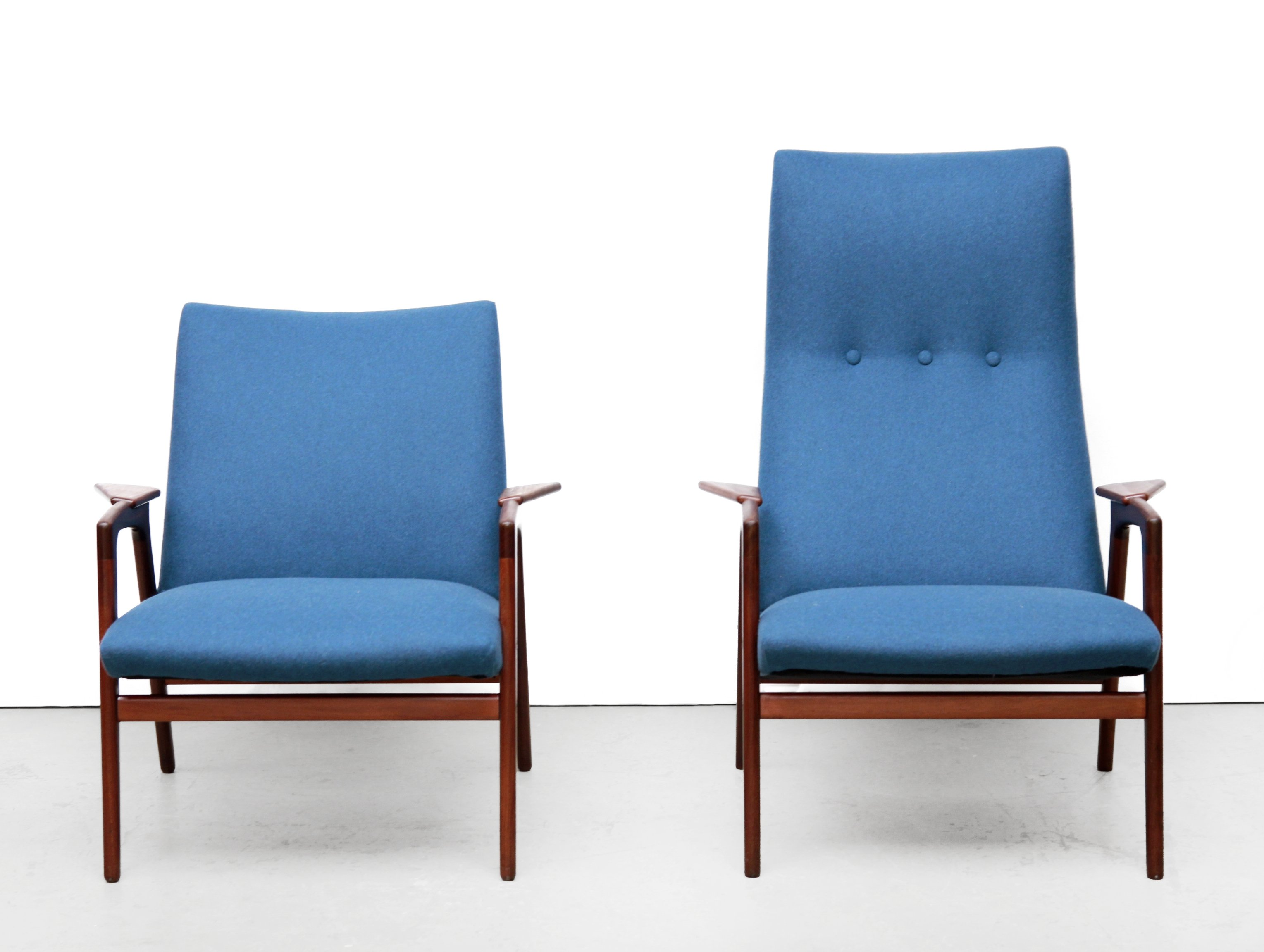 High Quality Pair Of Ruster Arm Chairs By Yngve Ekström For Pastoe, 1950s
