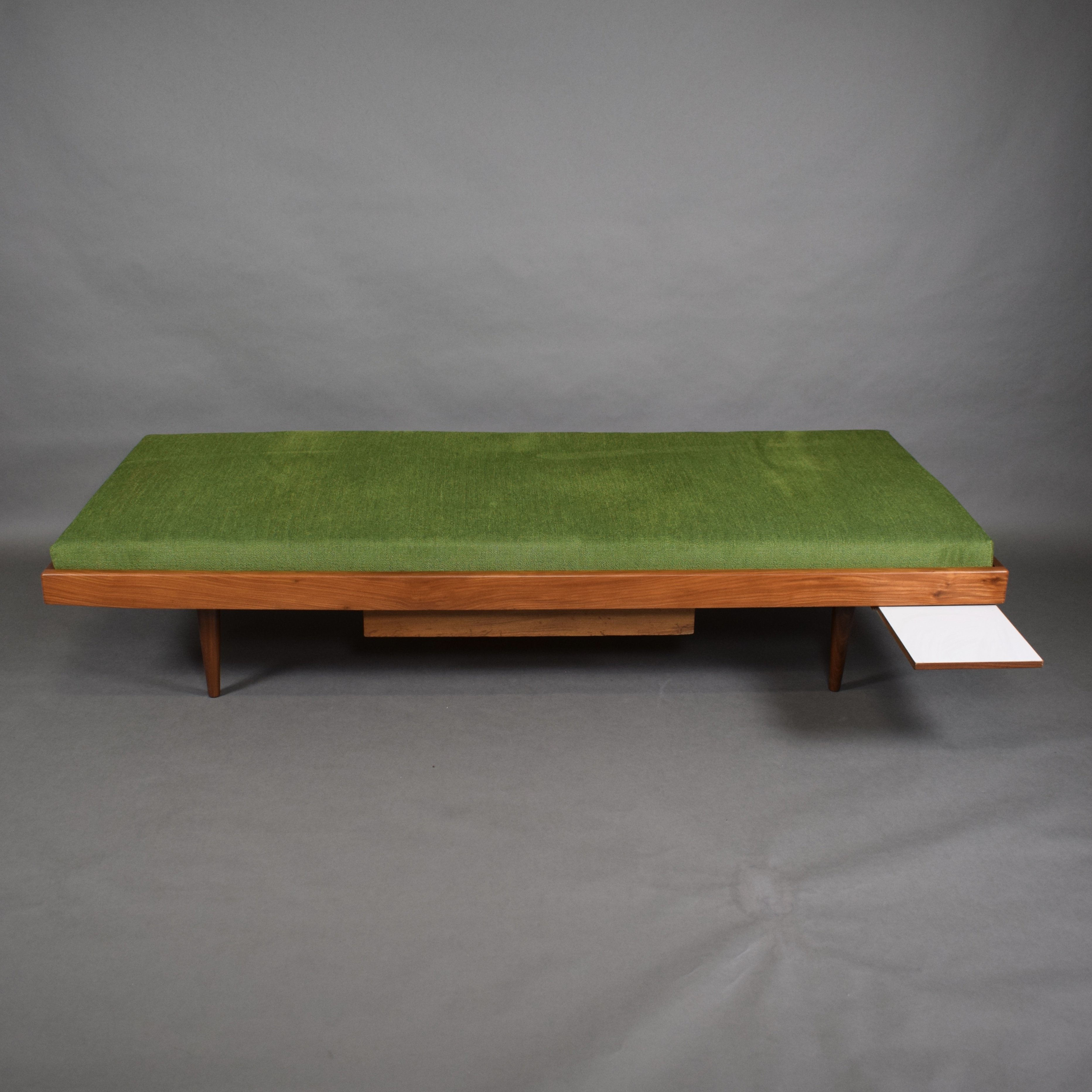 Teak Daybed With Drawer Extractable Coffee Table 1960s 75329