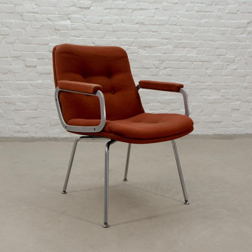 Mid Century Stone Red Side Chair By Geoffrey Harcourt For Artifort, 1960s