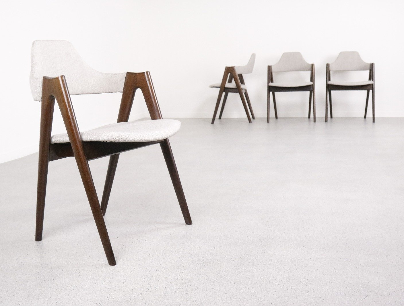 Set Of 4 Compass Dining Chairs By Kai Kristiansen For Schou Andersen Sva Mobler 1960s