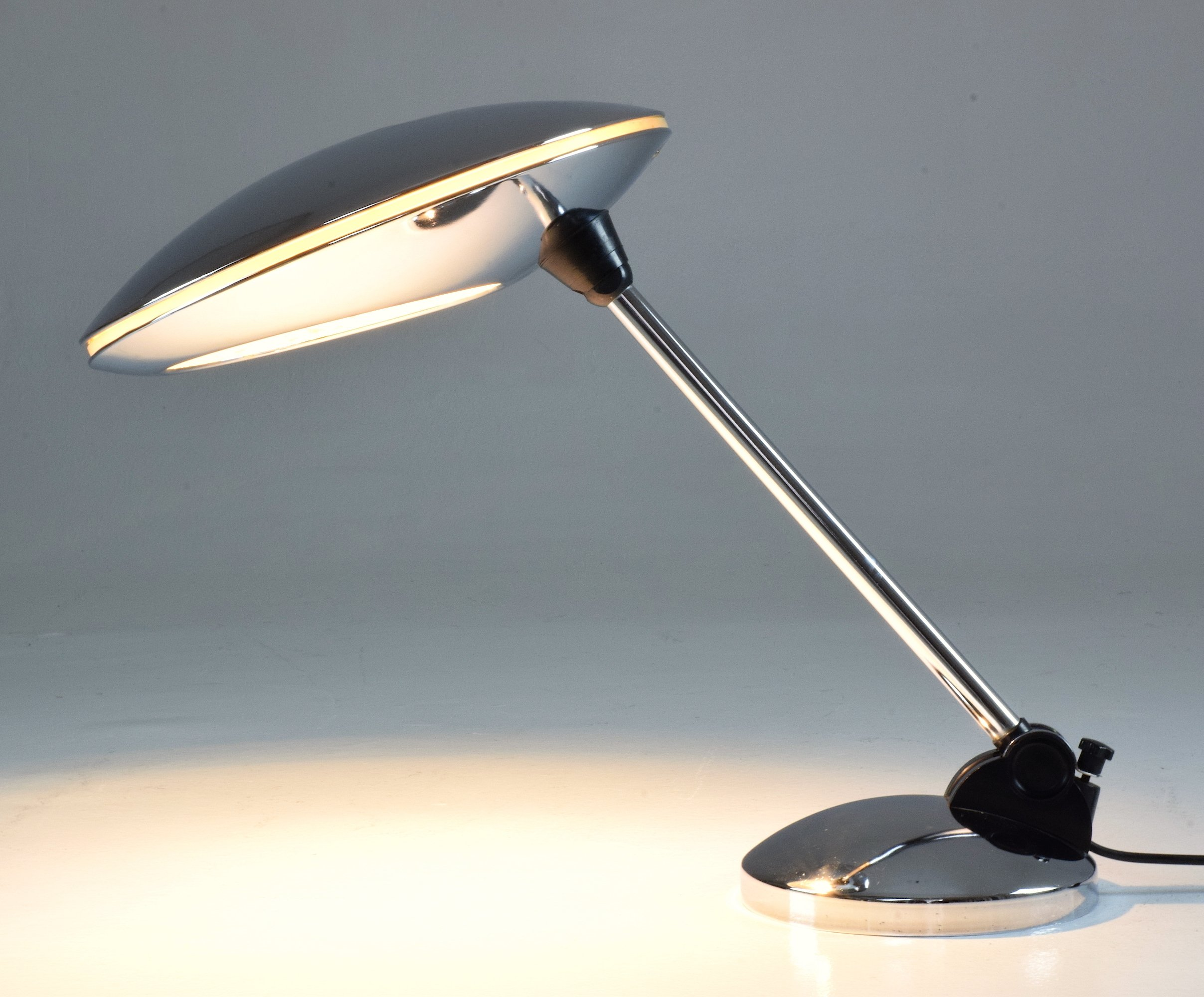 Chrome Desk Lamp By Fase Spain 1950