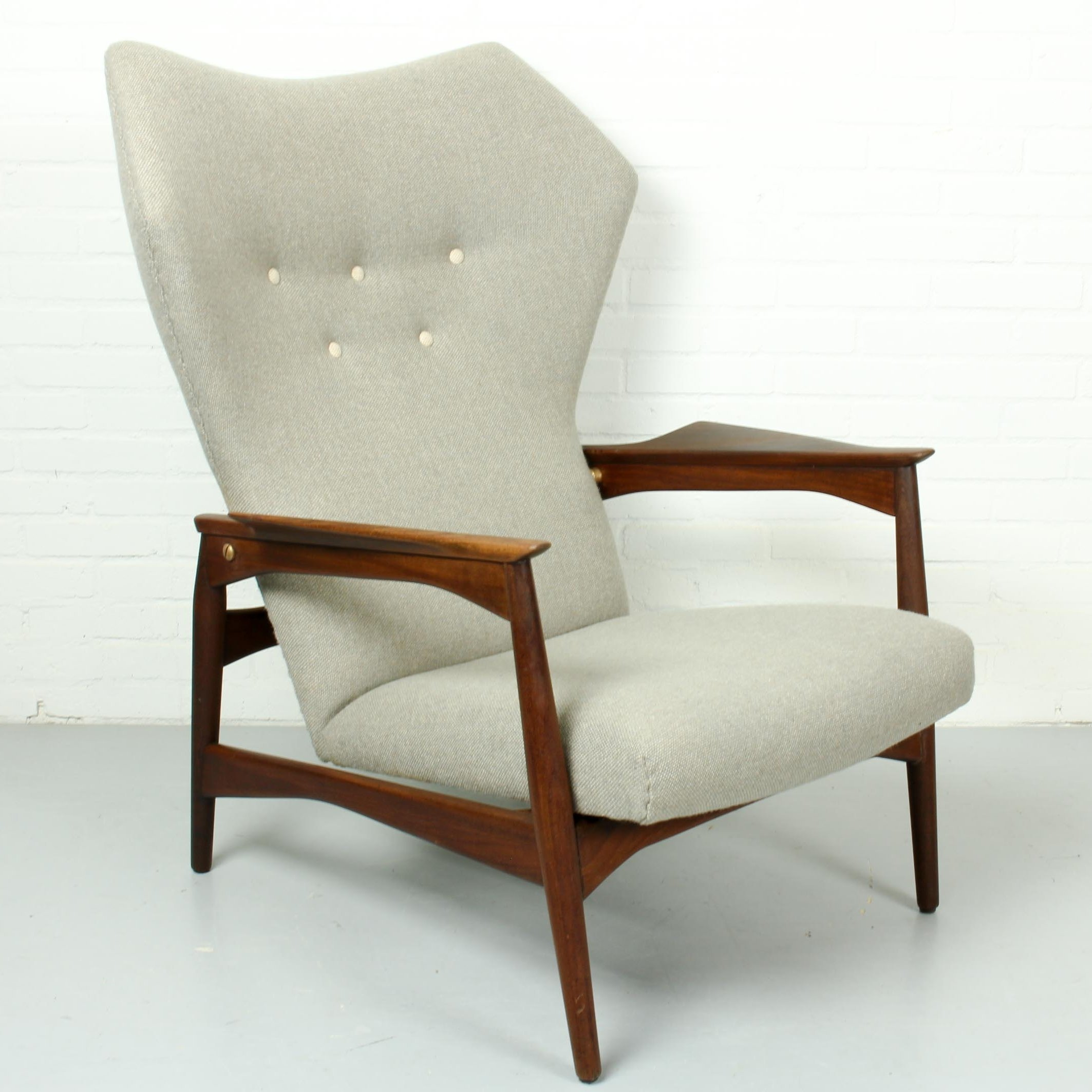 Danish Ib Kofod Larsen Reclining Lounge Chair, 1960s