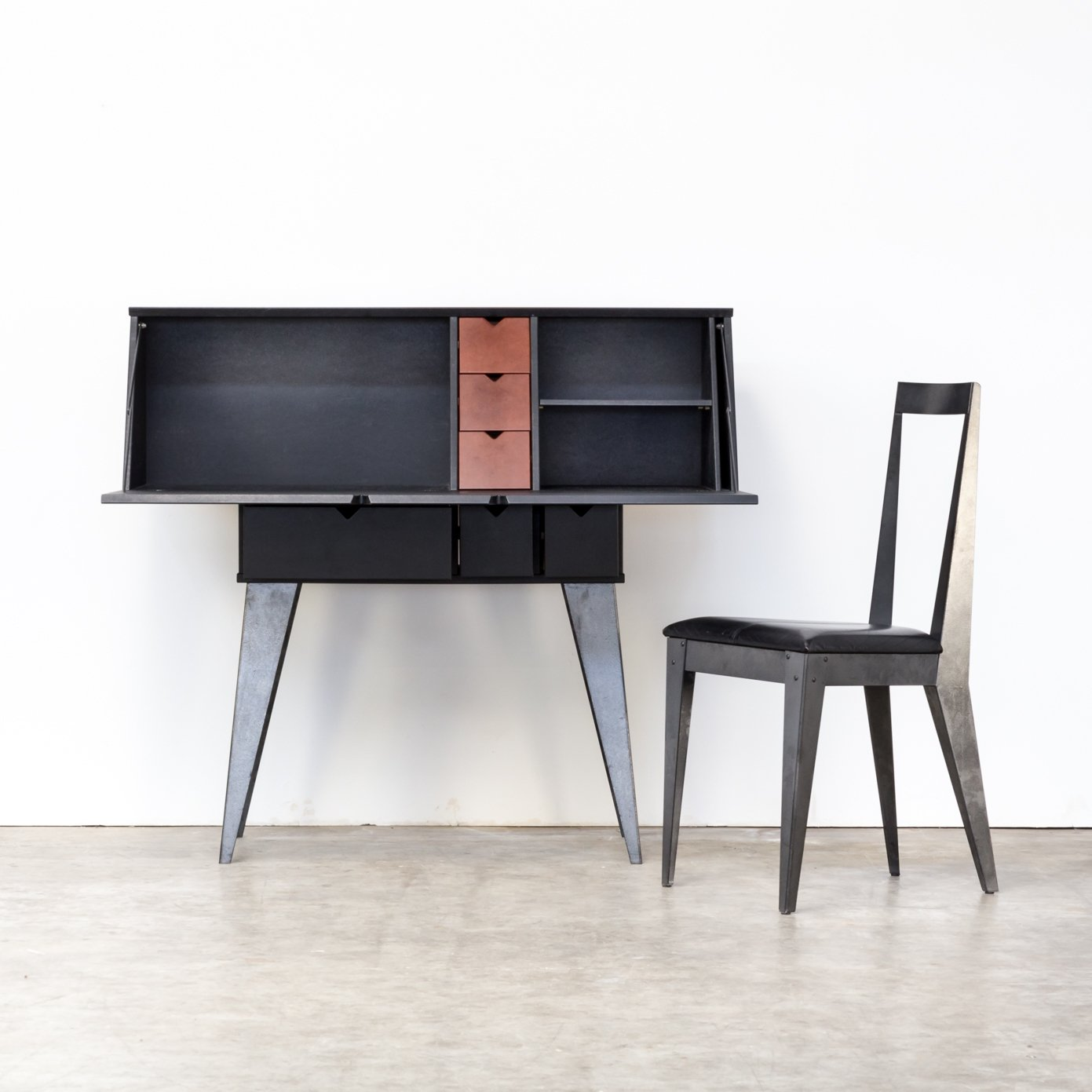 Tjord Björklund Writing Desk Secretaire Chair For Ikea