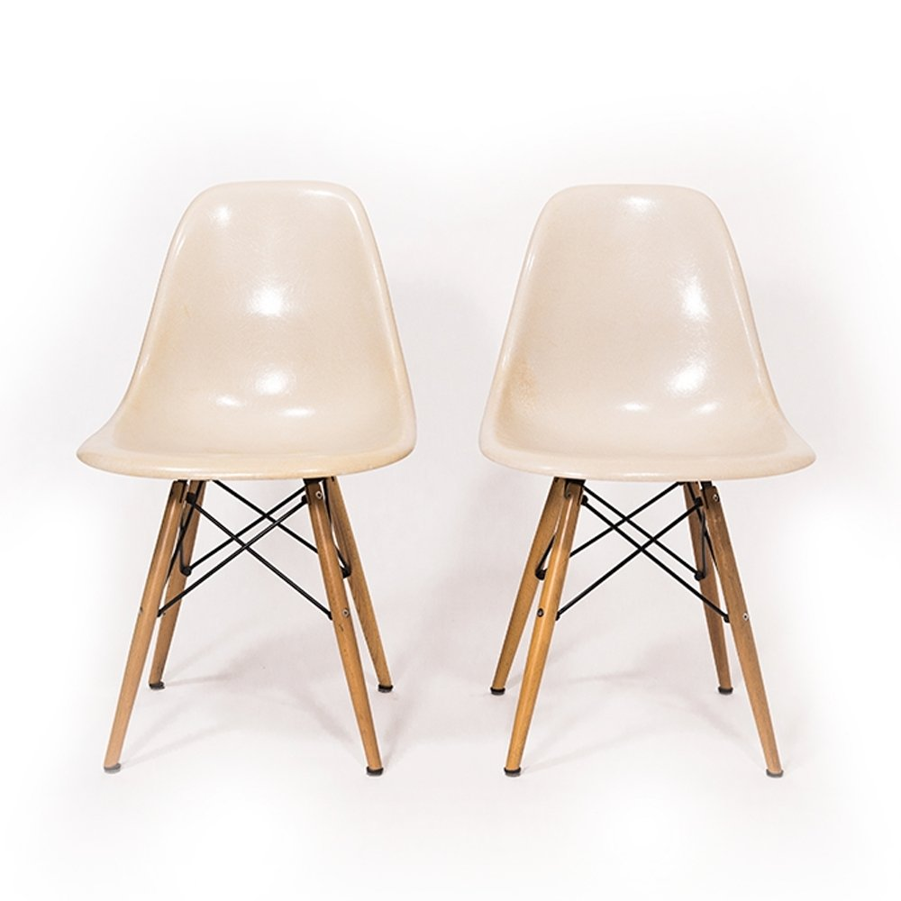 Parchment DSW Chair By Ray U0026 Charles Eames For Vitra